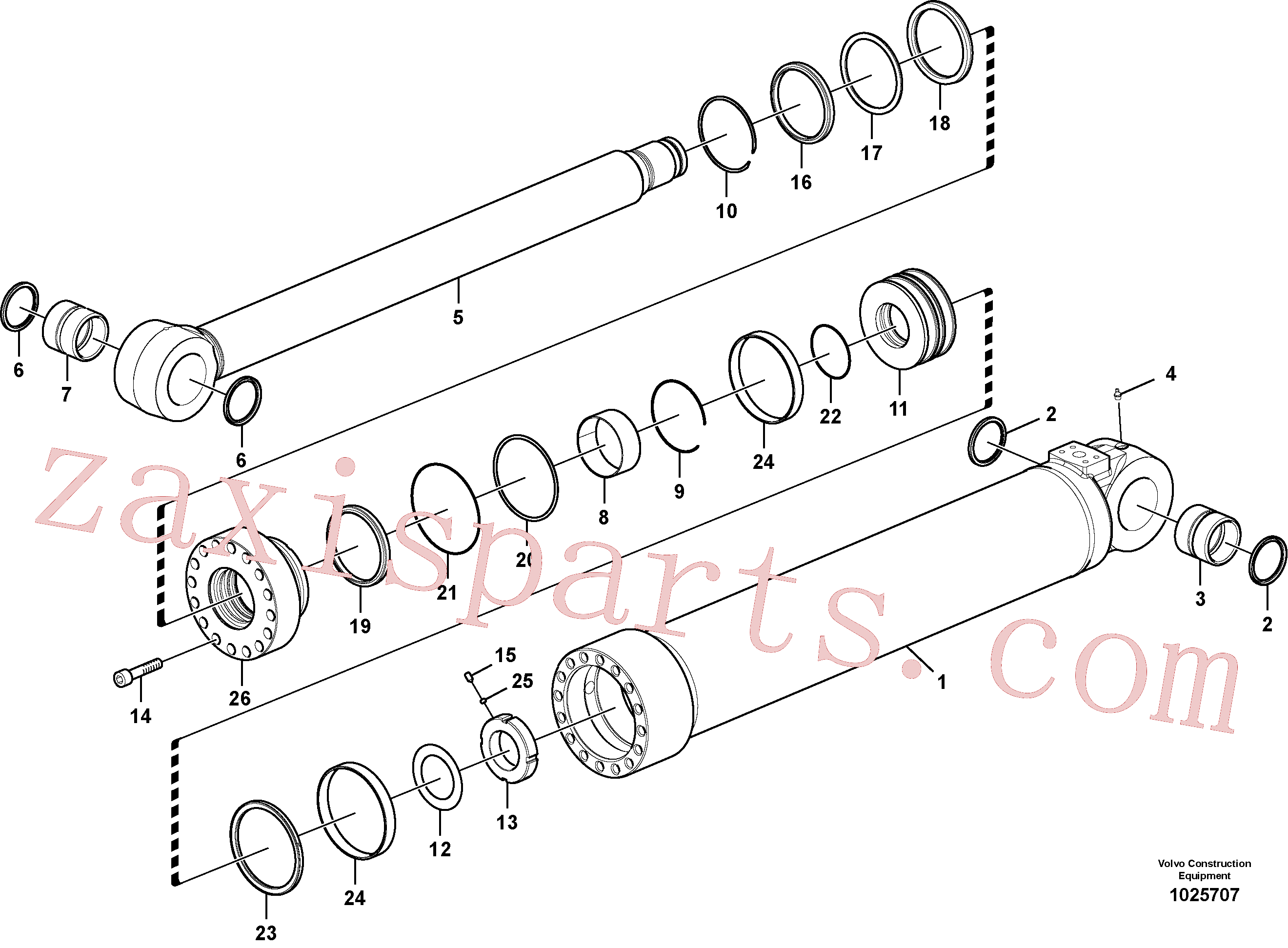 SA9563-20900 for Volvo Boom cylinder, adjustable 1st, Boom cylinder, adjustable 2nd(1025707 assembly)