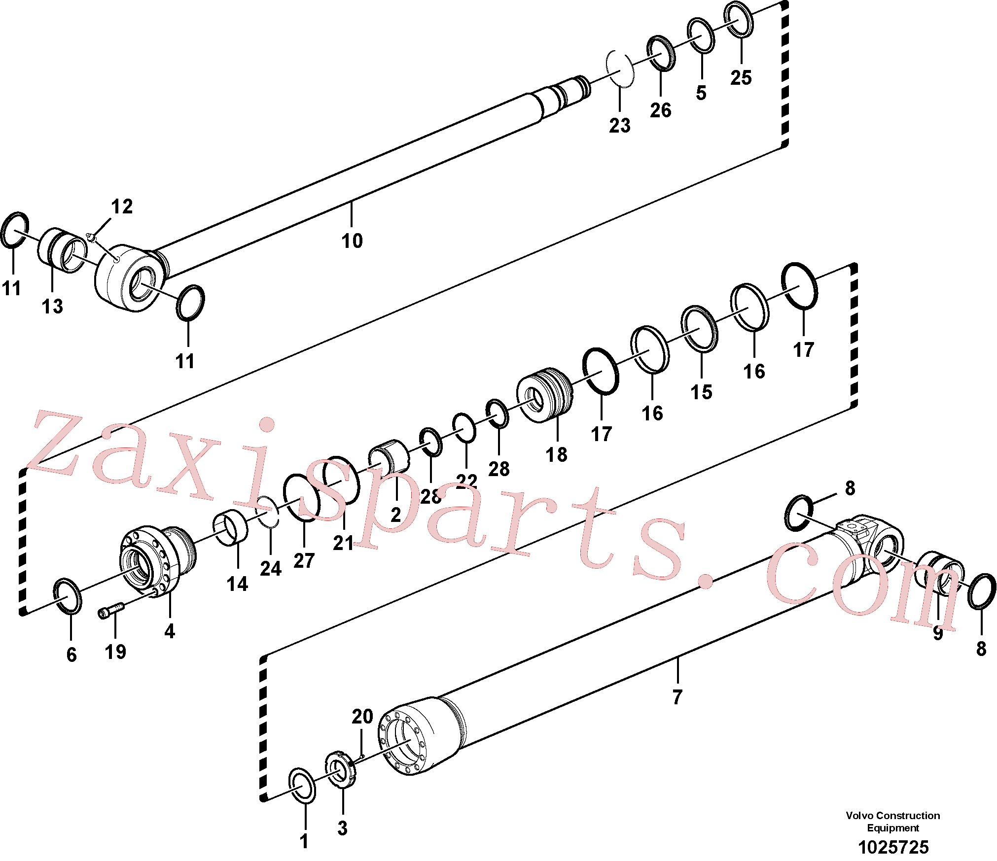 SA9016-22018 for Volvo Bucket cylinder(1025725 assembly)
