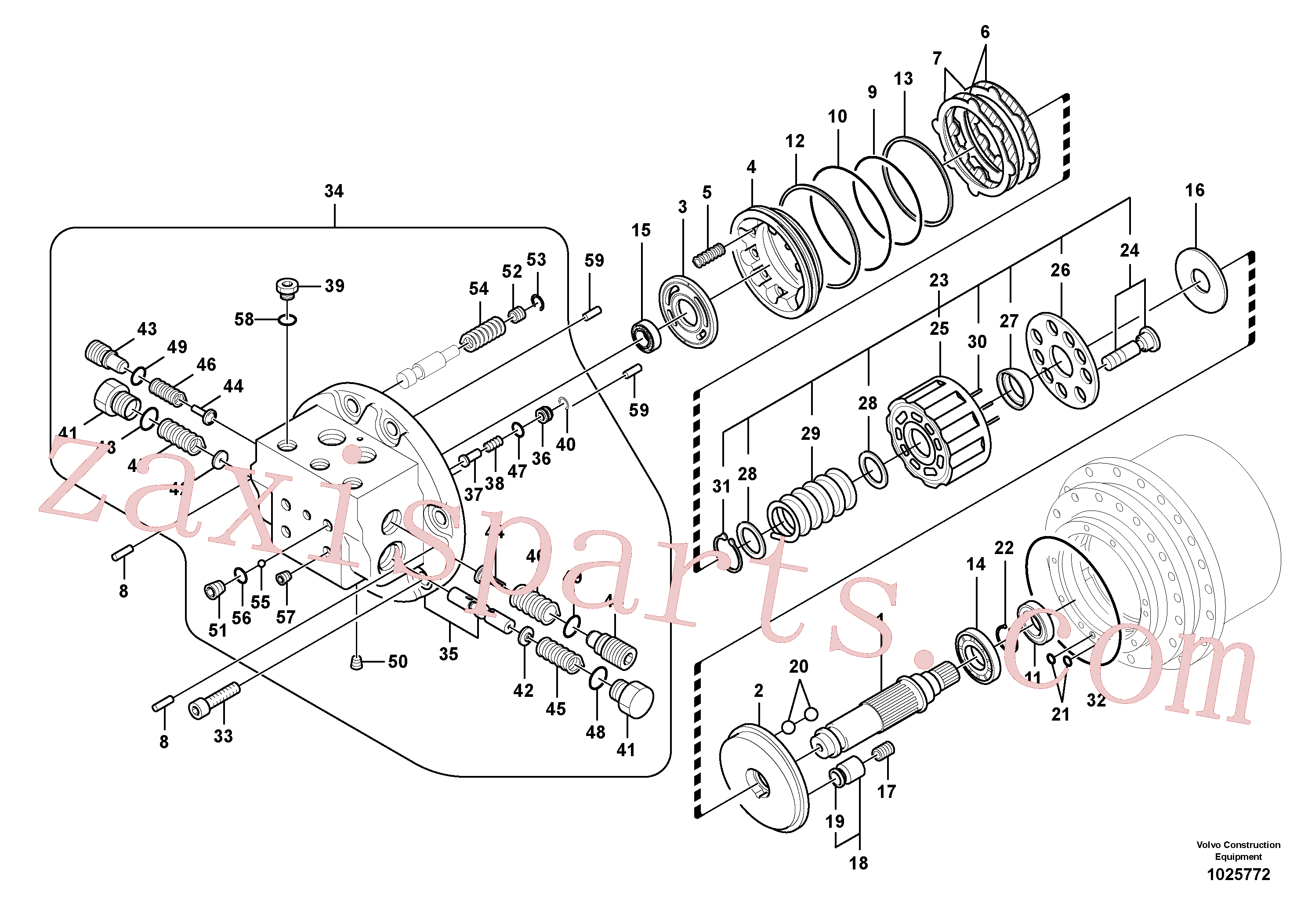 VOE14578767 for Volvo Travel motor(1025772 assembly)