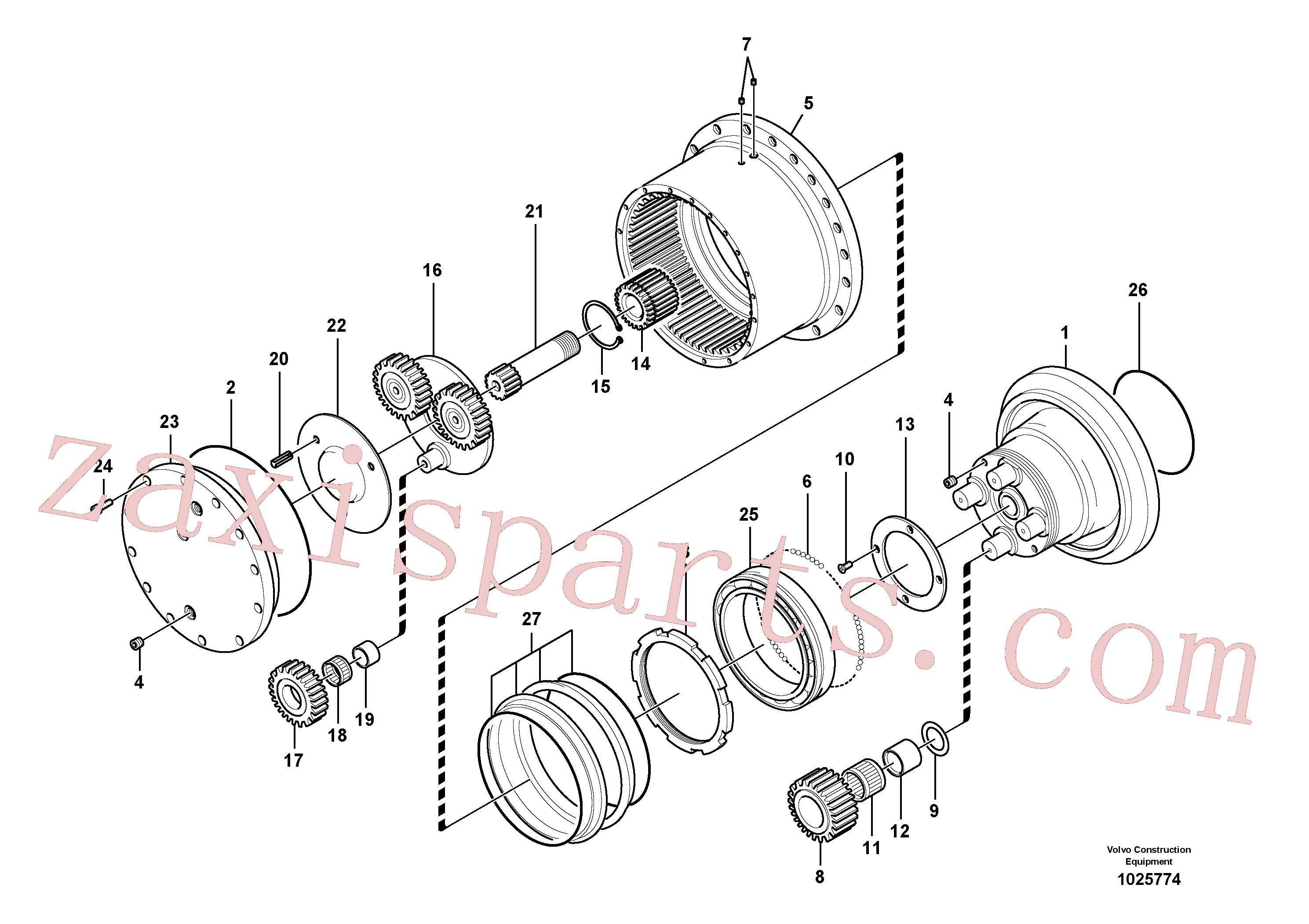 VOE14505073 for Volvo Travel gearbox(1025774 assembly)