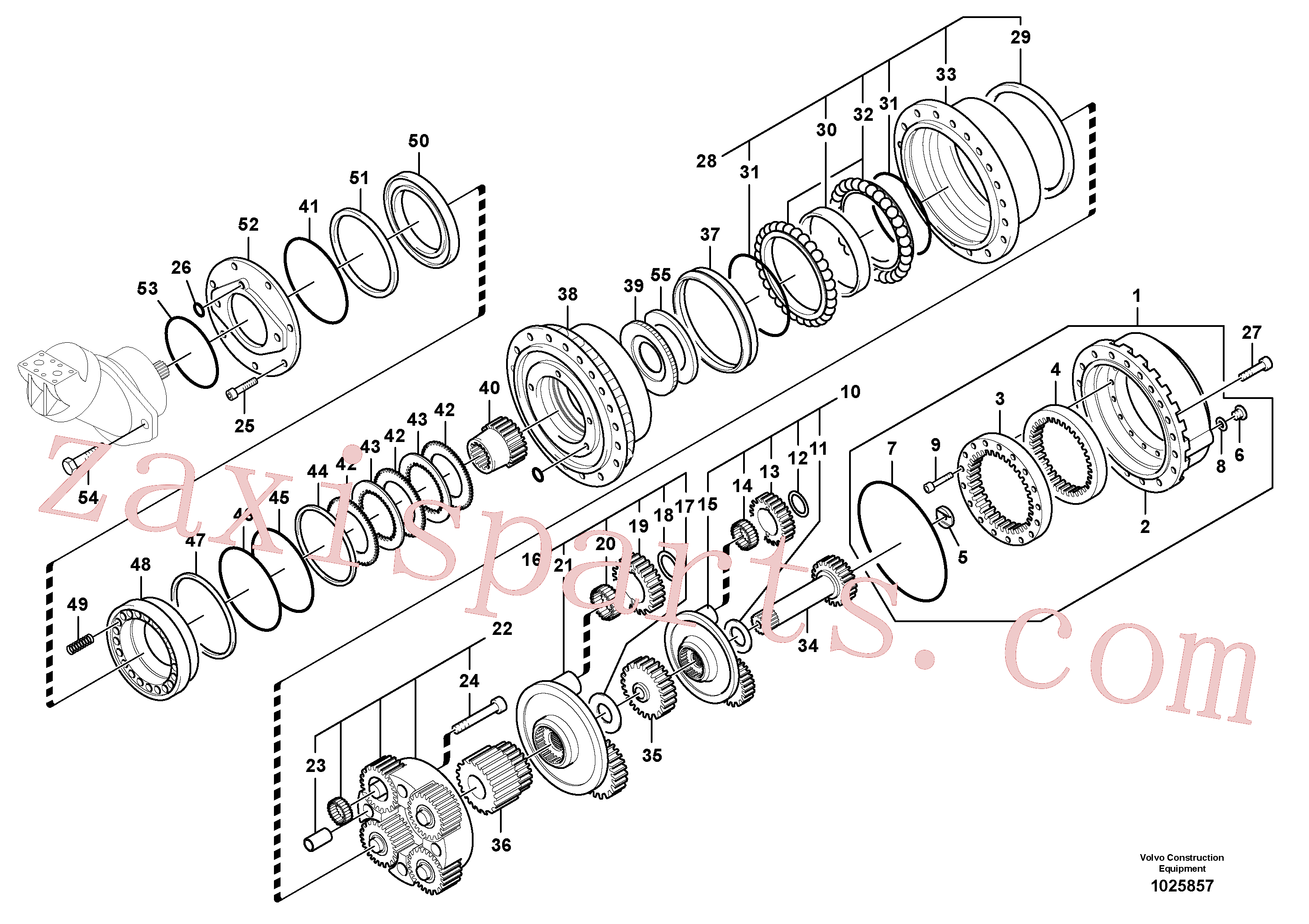 VOE11706895 for Volvo Travel gearbox(1025857 assembly)