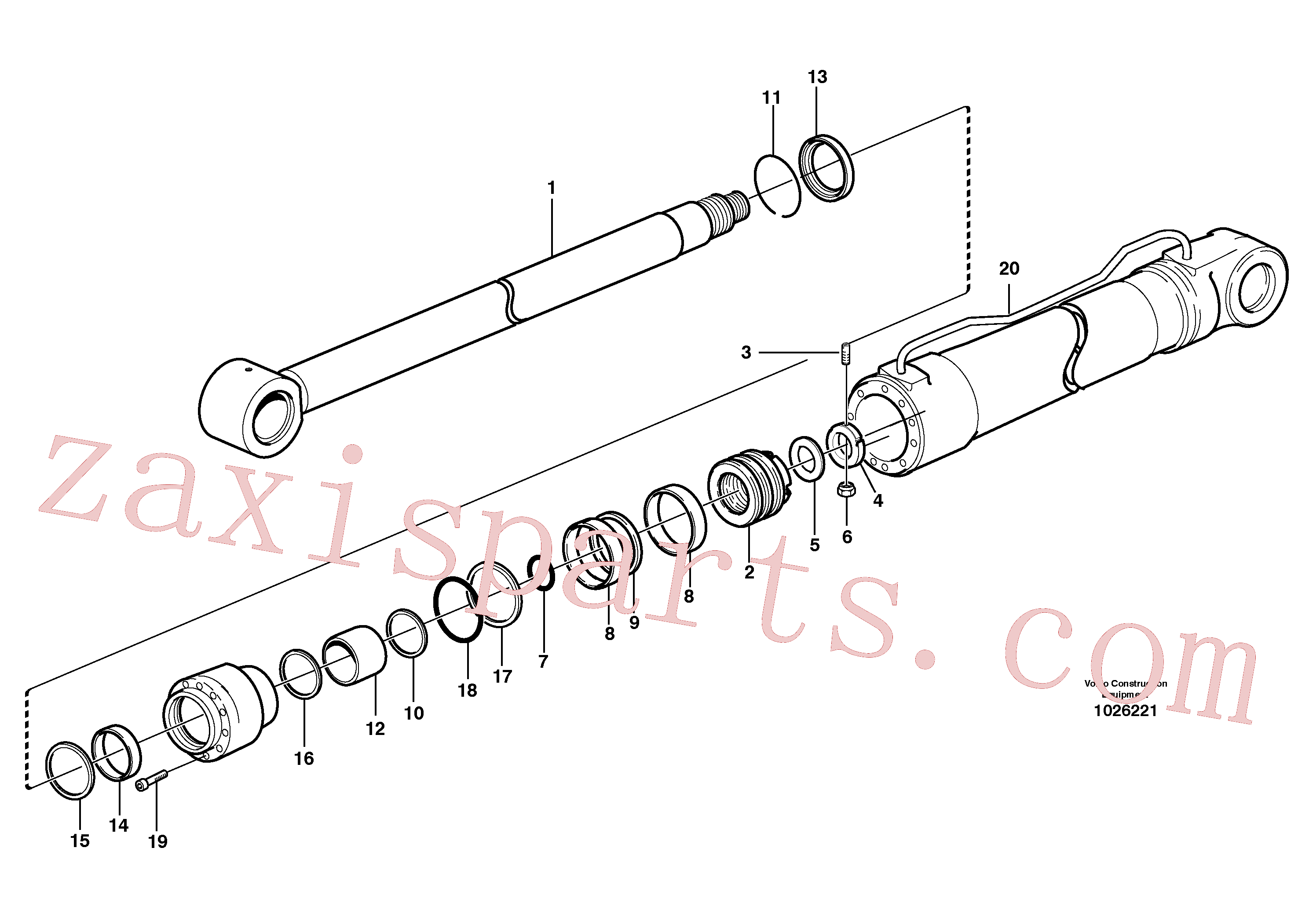 SA1146-08120 for Volvo Hydraulic cylinder, stabilisor(1026221 assembly)