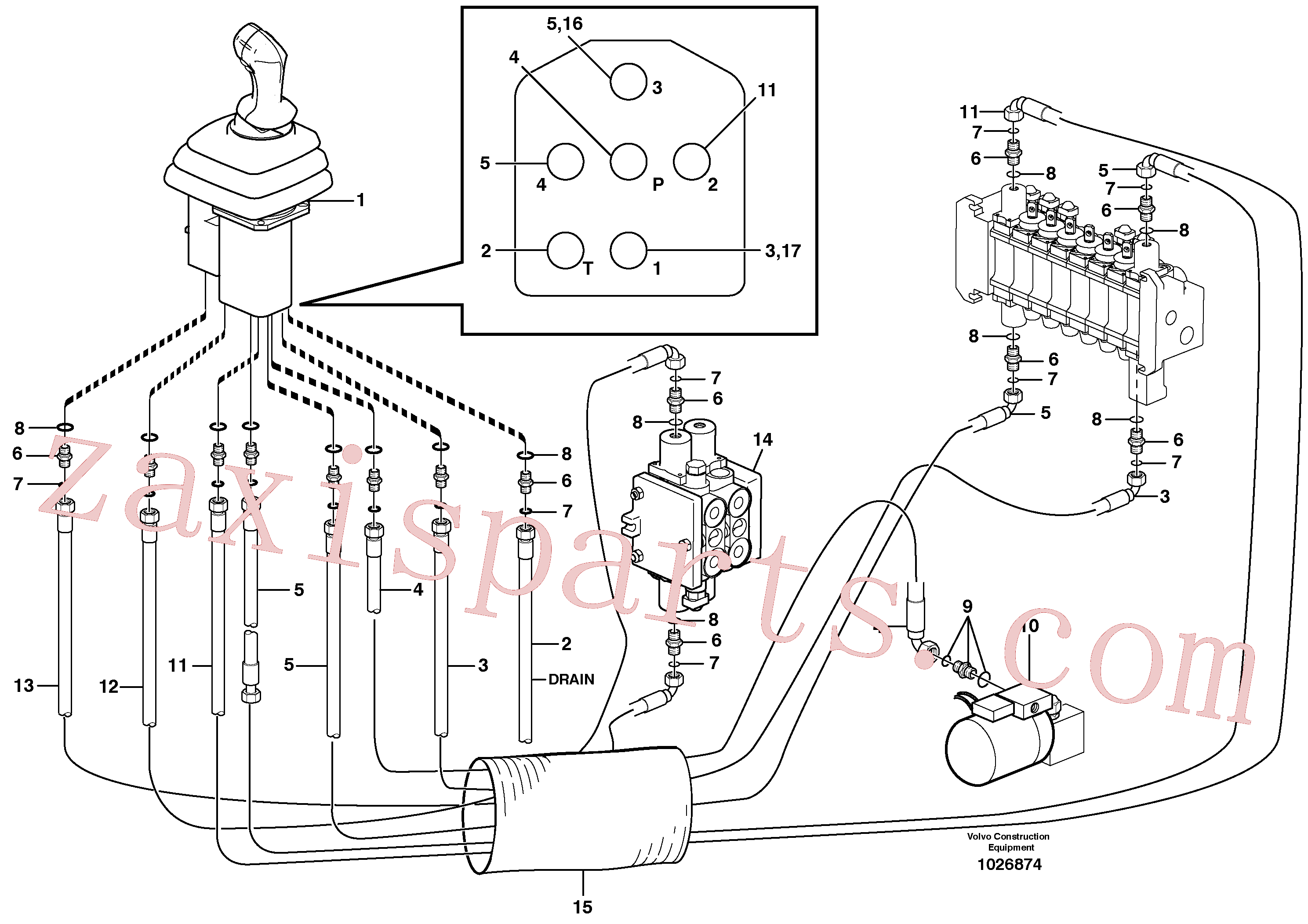 VOE11802772 for Volvo Loader controls(1026874 assembly)