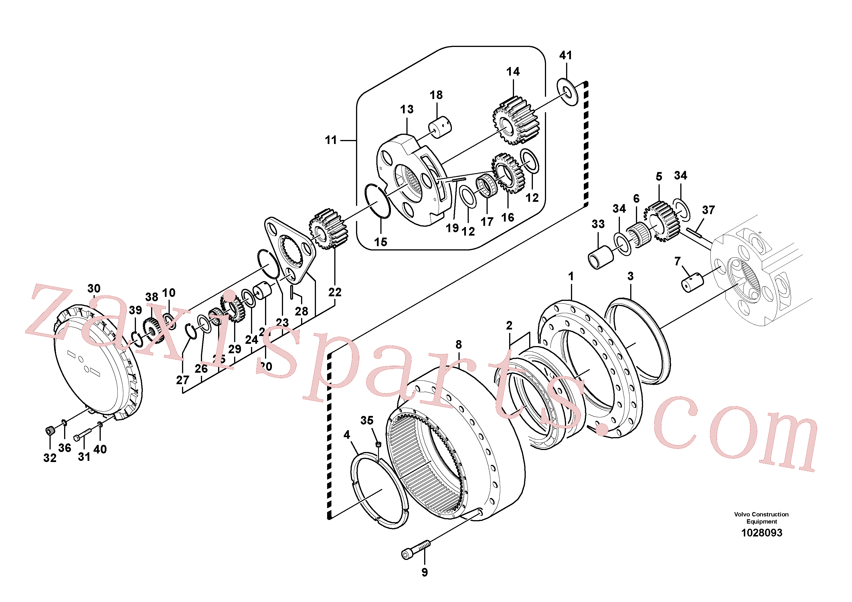 SA9541-01038 for Volvo Travel gearbox(1028093 assembly)