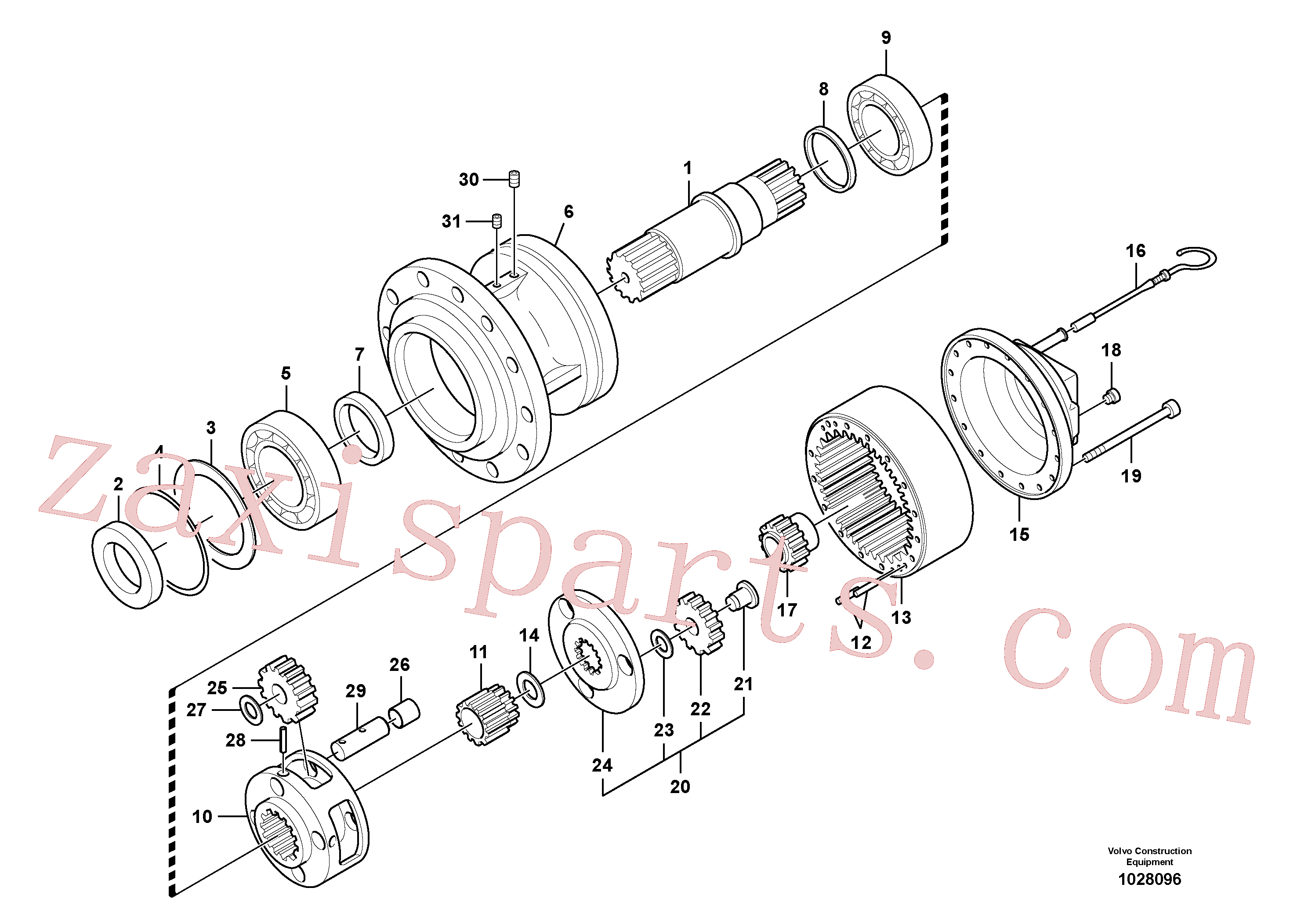 SA8230-22600 for Volvo Swing gearbox(1028096 assembly)