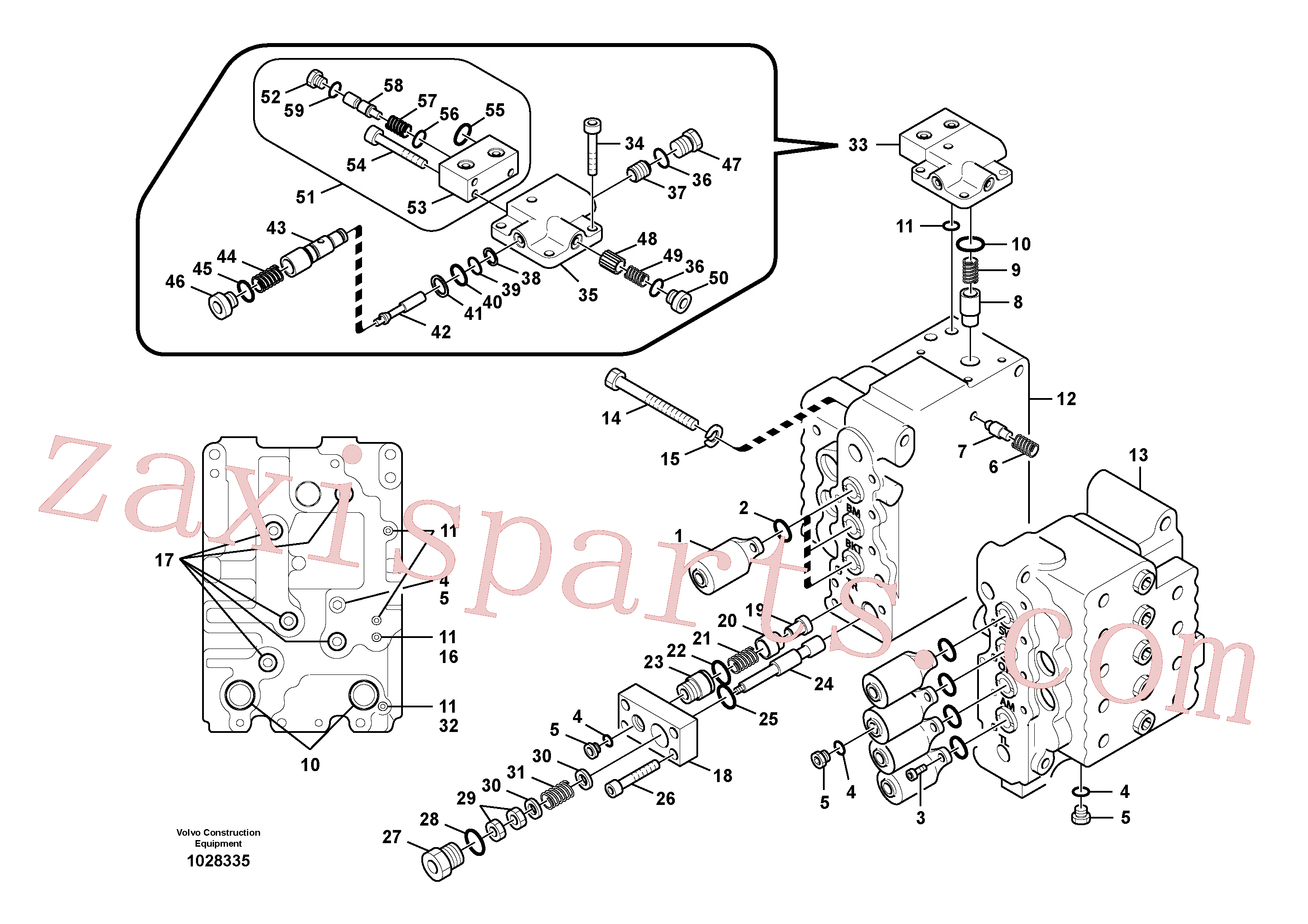 VOE14501630 for Volvo Main control valve, relief valve and boom holding(1028335 assembly)