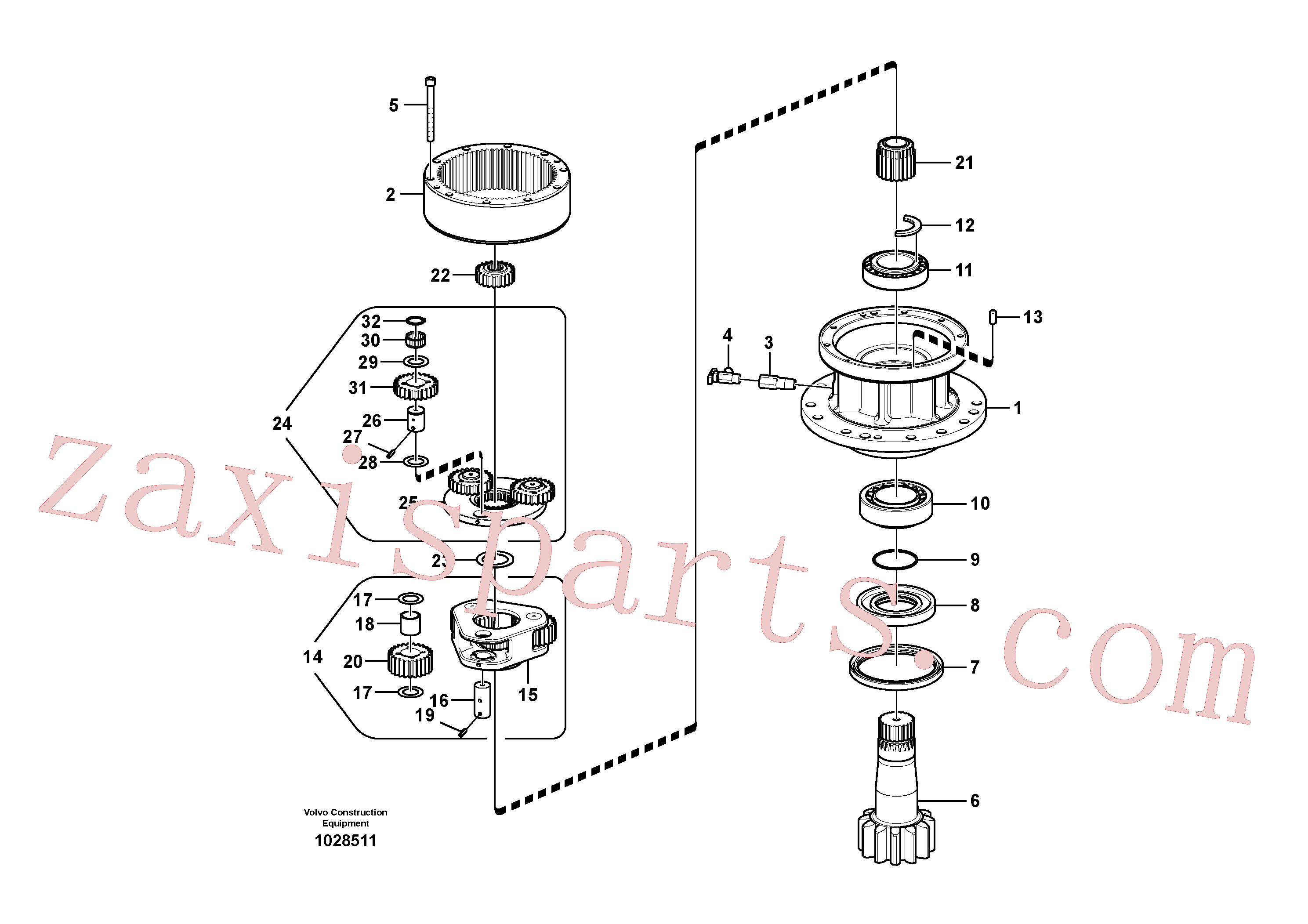 SA7118-23330 for Volvo Swing gearbox(1028511 assembly)