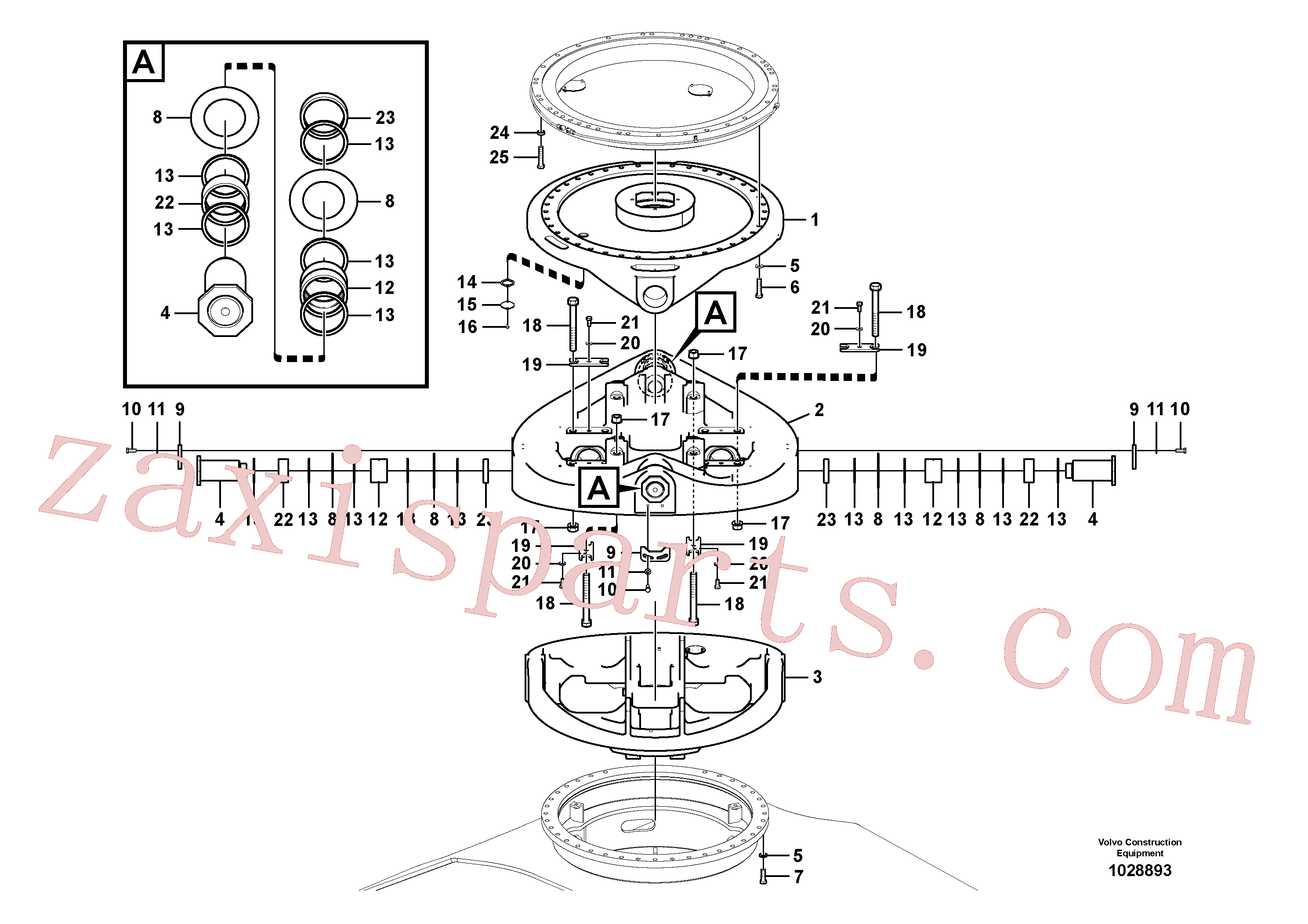 SA9011-22421 for Volvo Level system structure(1028893 assembly)