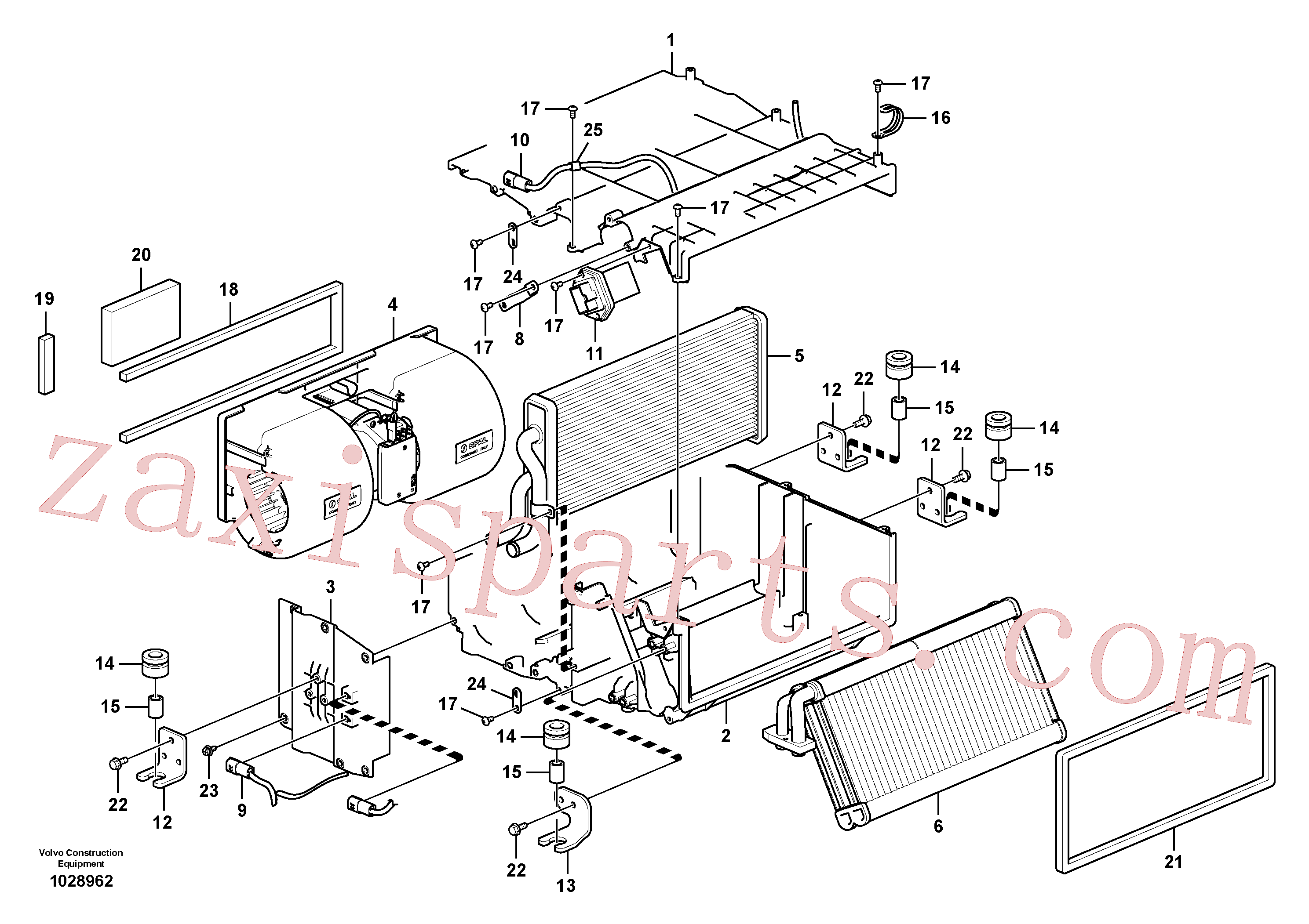 VOE14880564 for Volvo Air conditioning unit, cooling and heater(1028962 assembly)