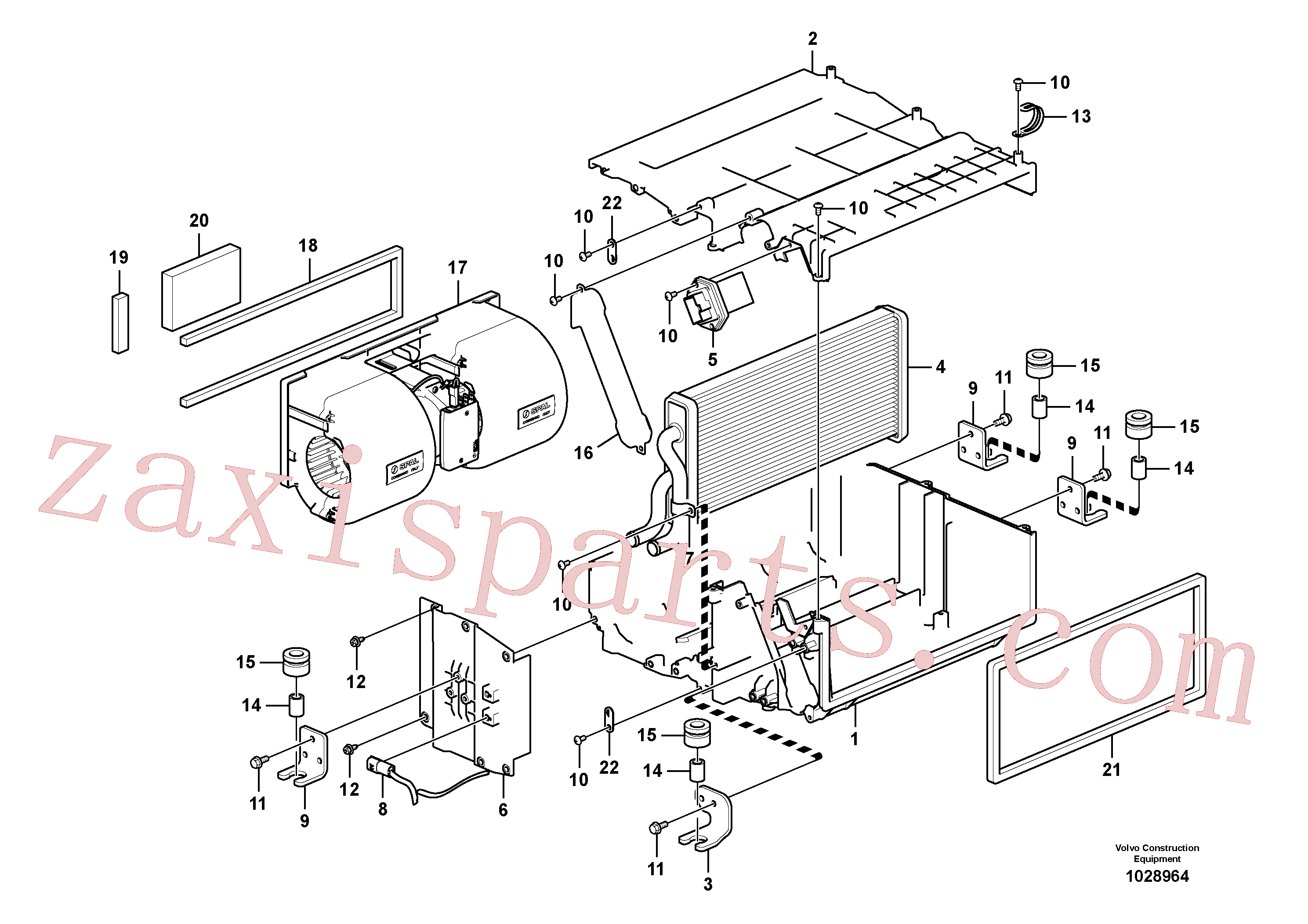 VOE14880564 for Volvo Heating unit(1028964 assembly)