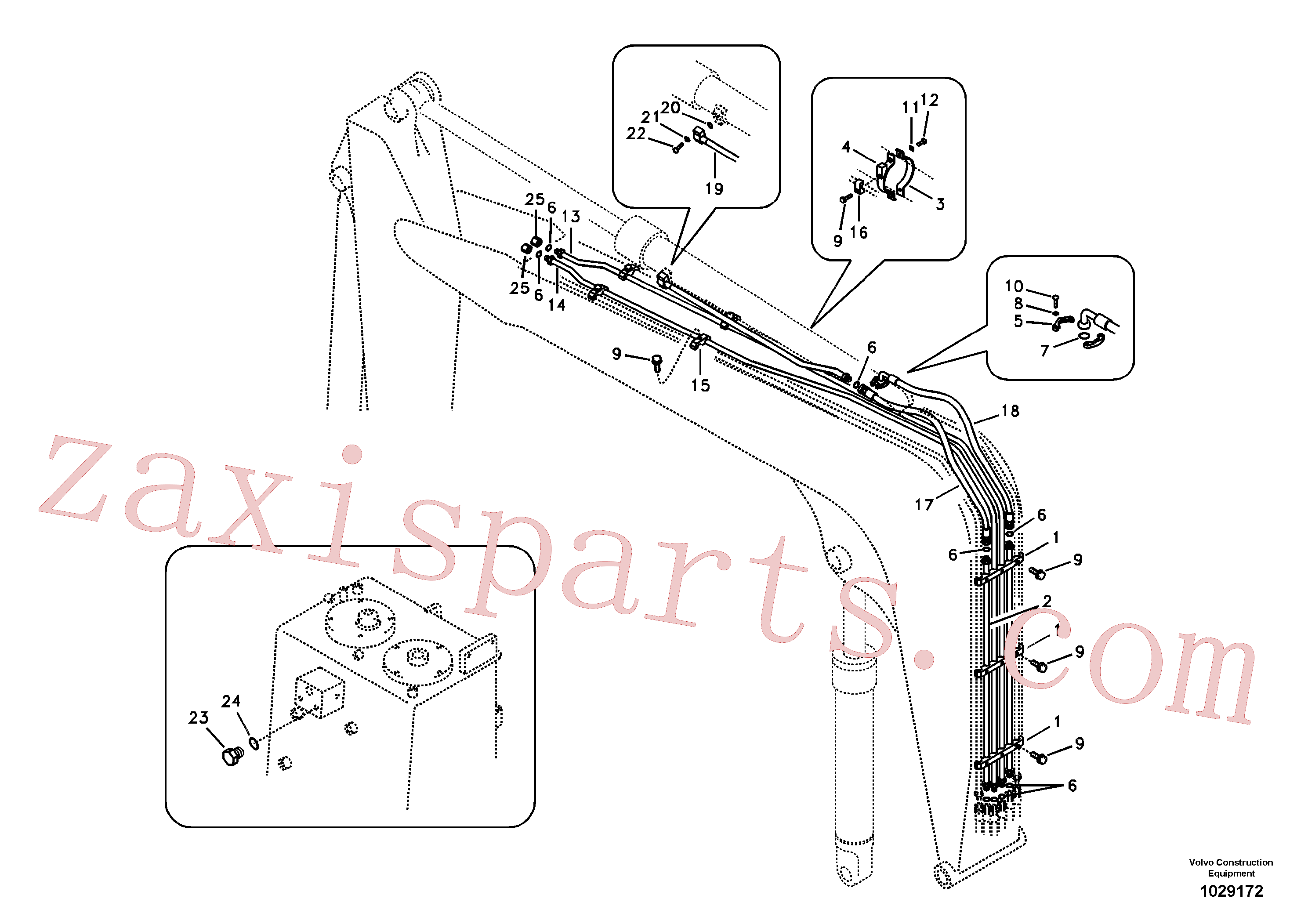 VOE14528544 for Volvo Working hydraulic, dipper arm cylinder on boom.(1029172 assembly)