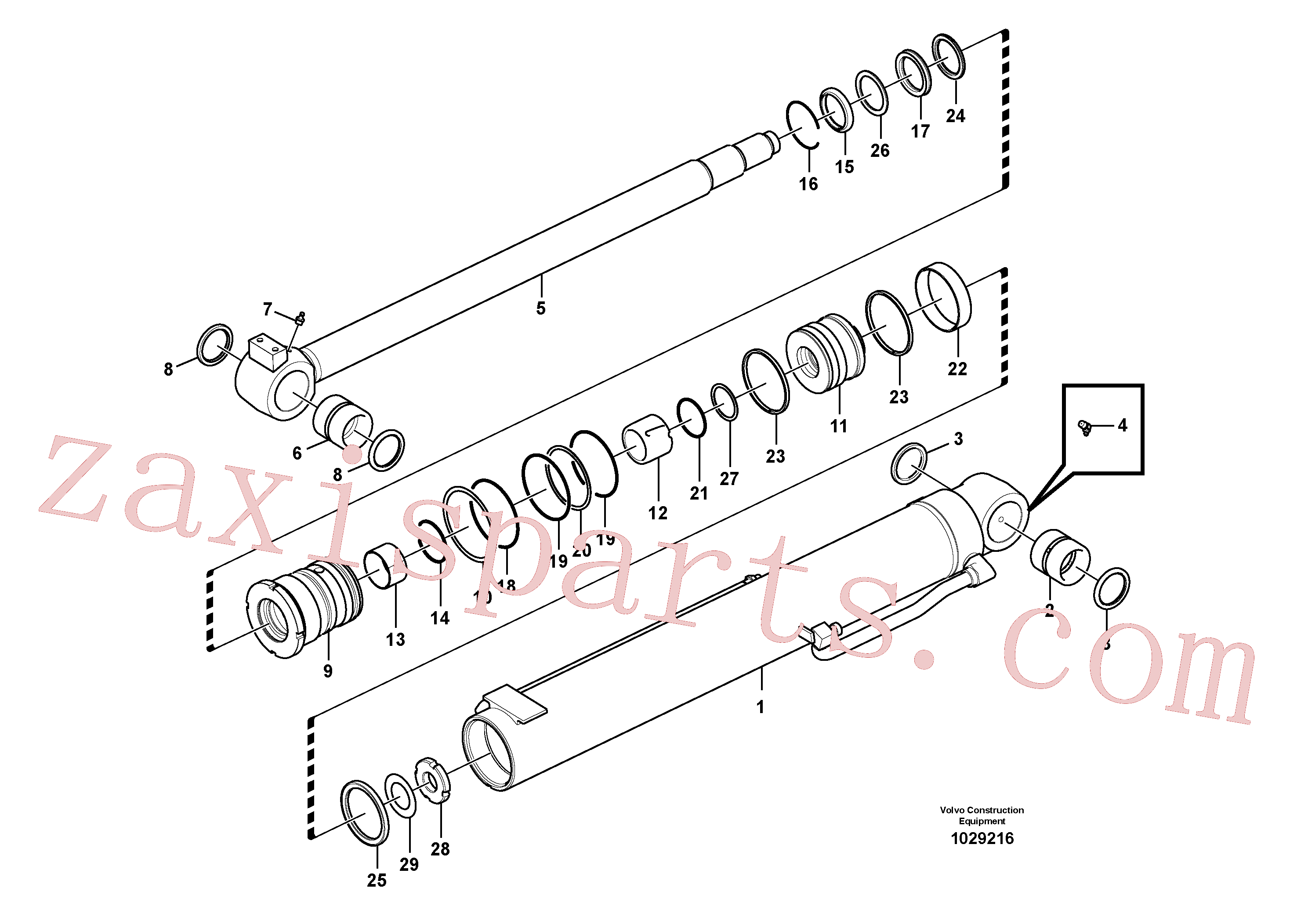 SA9563-20600 for Volvo Boom cylinder(1029216 assembly)