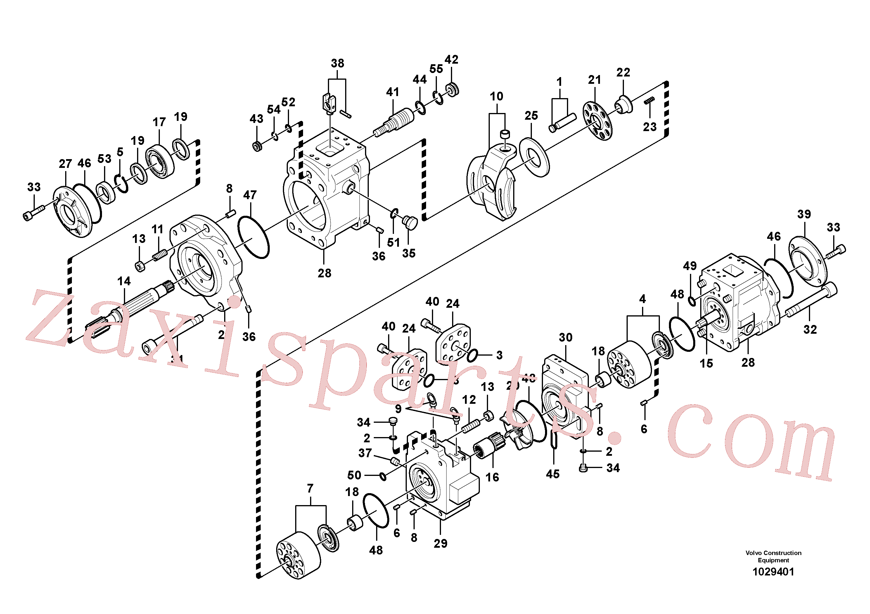 VOE14595548 for Volvo Hydraulic pump(1029401 assembly)