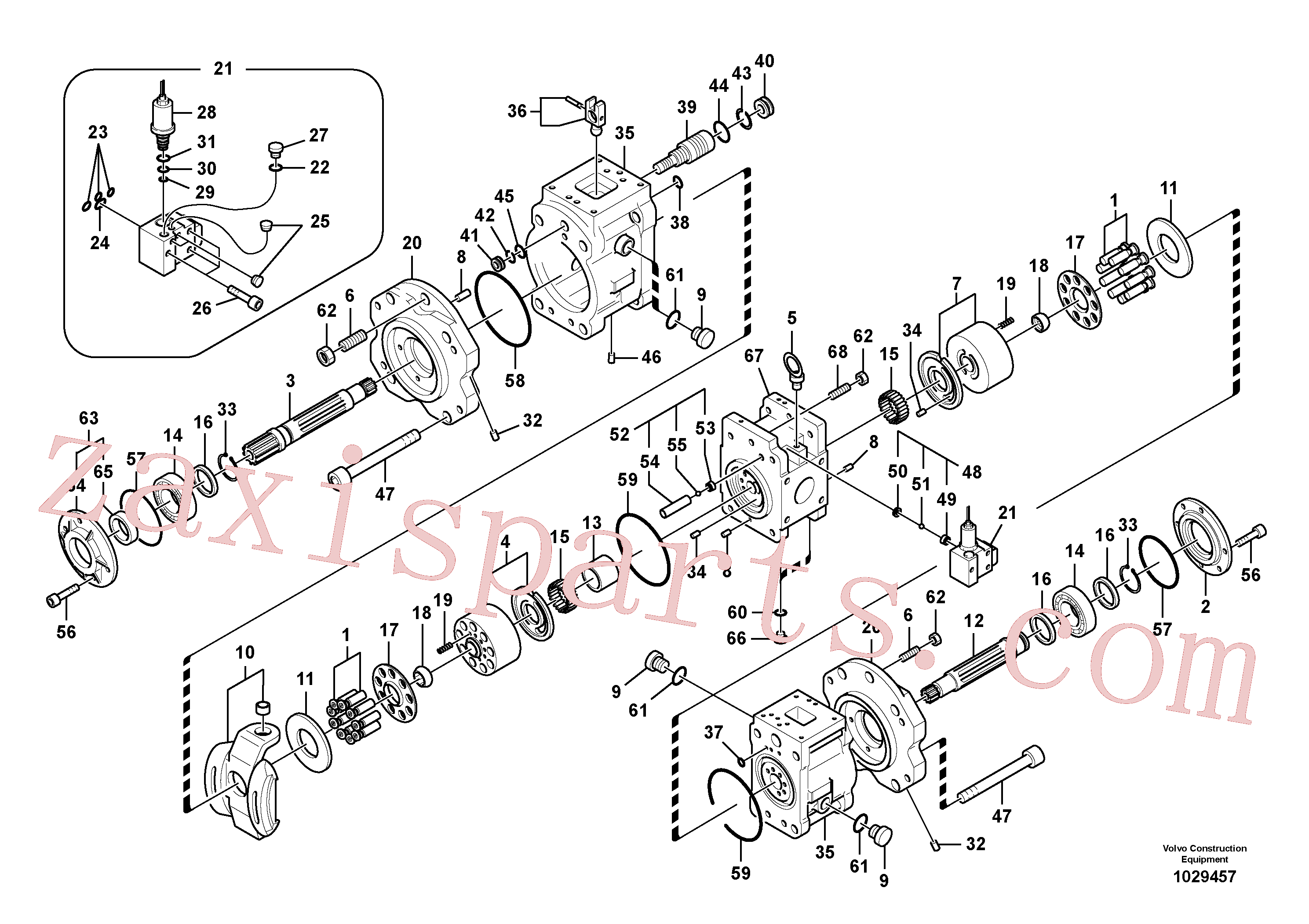VOE14552650 for Volvo Hydraulic pump(1029457 assembly)