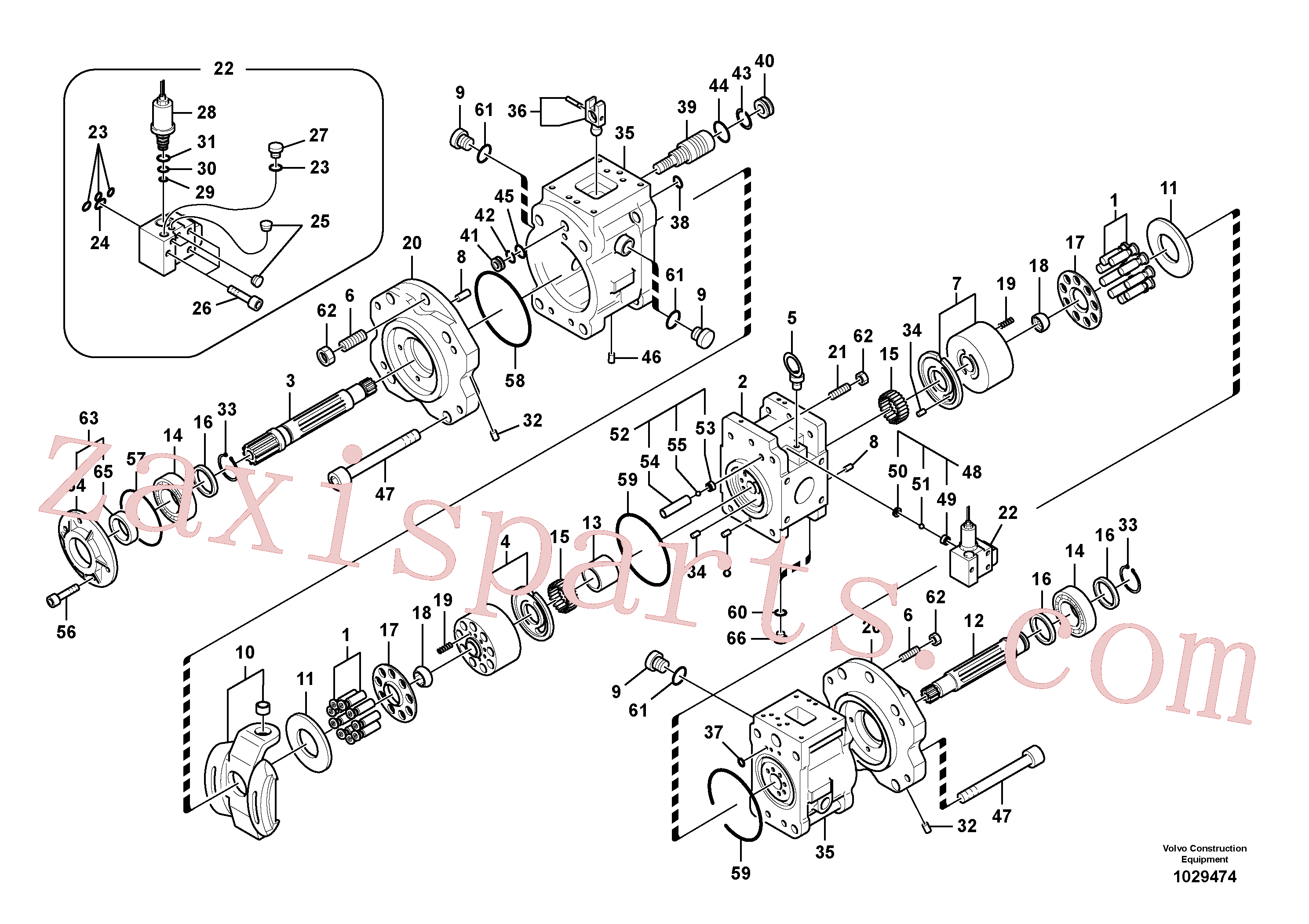 VOE14552650 for Volvo Hydraulic pump(1029474 assembly)