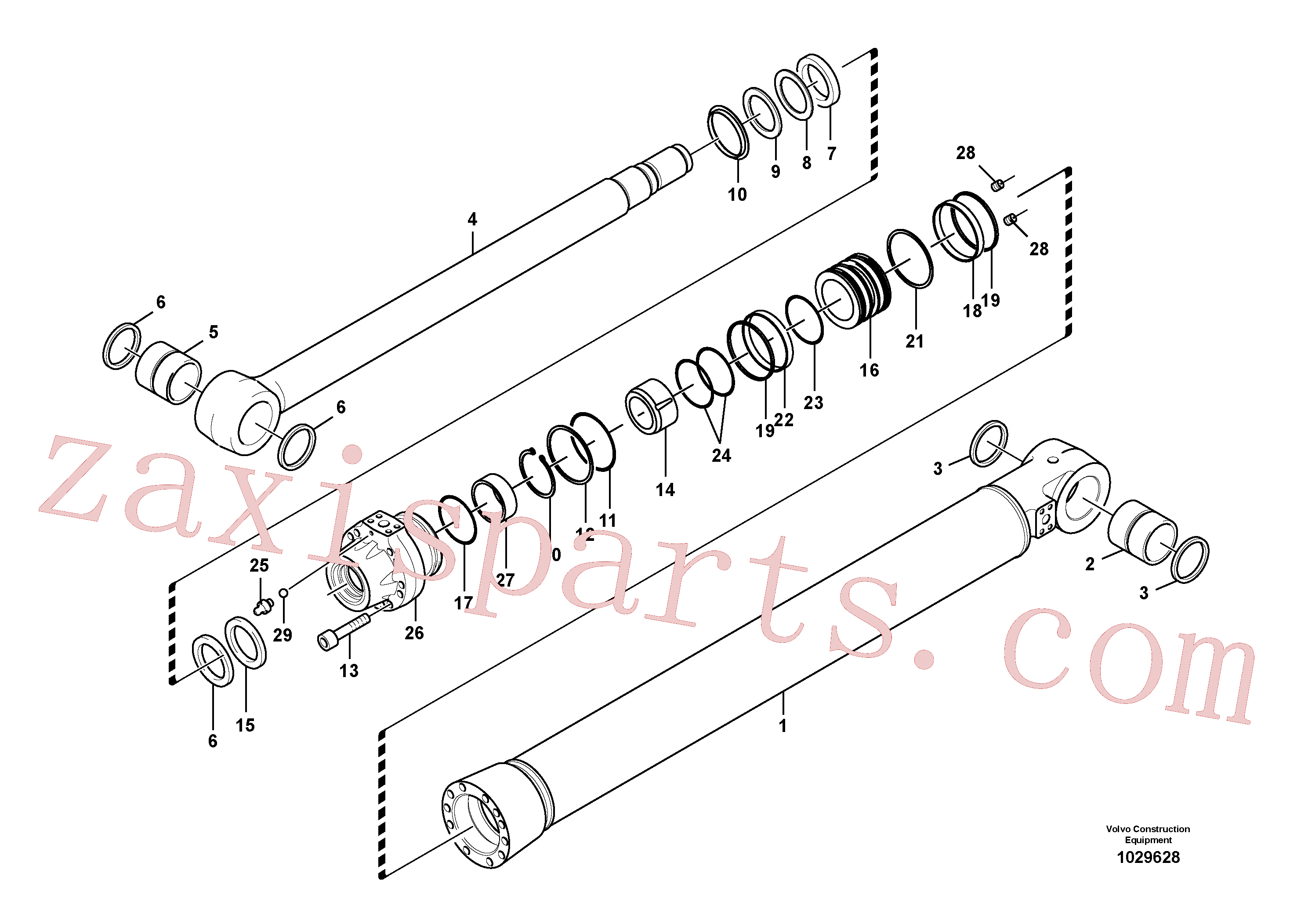 SA1146-08160 for Volvo Boom cylinder(1029628 assembly)