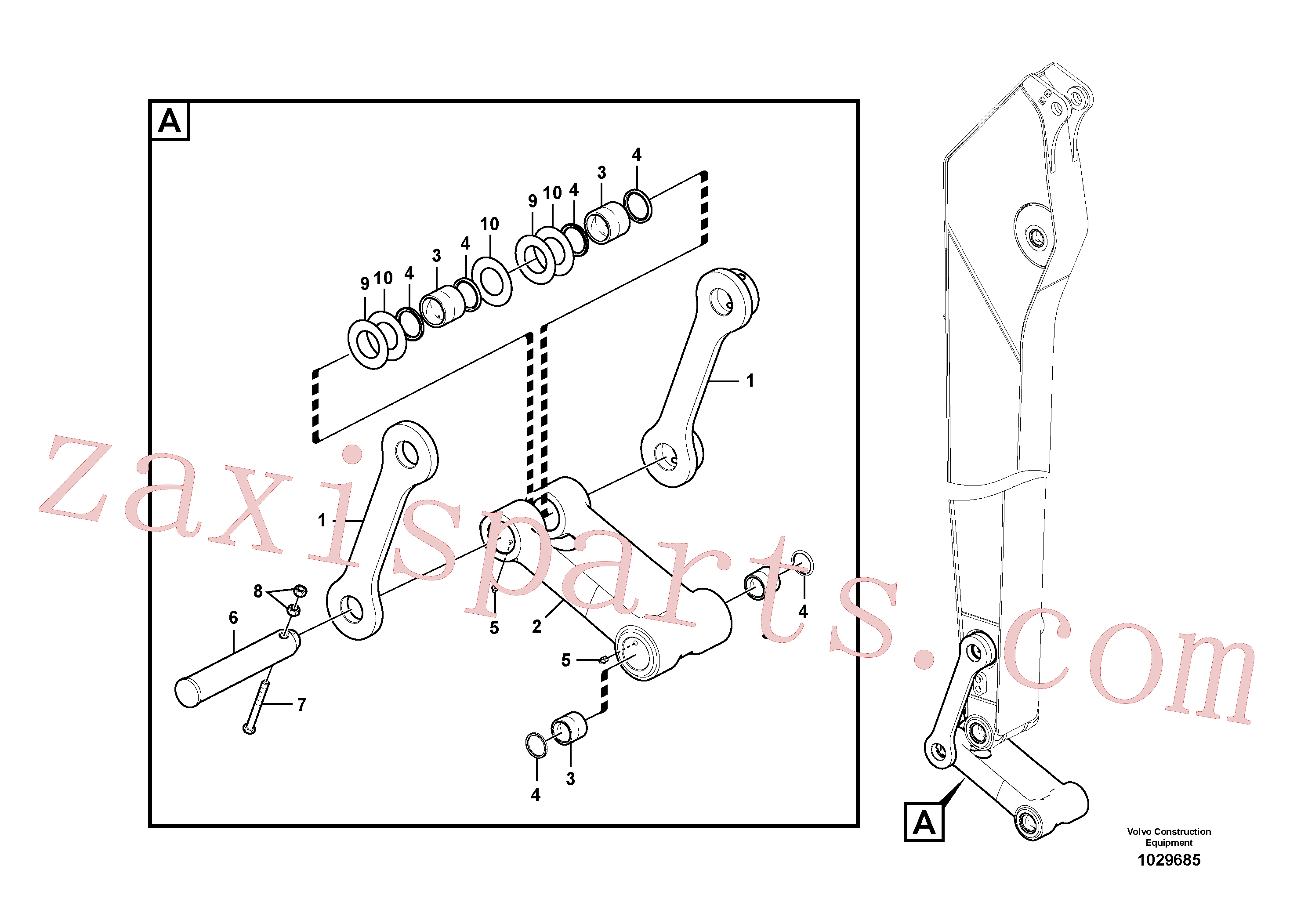 VOE14728825 for Volvo Links to connecting rod(1029685 assembly)