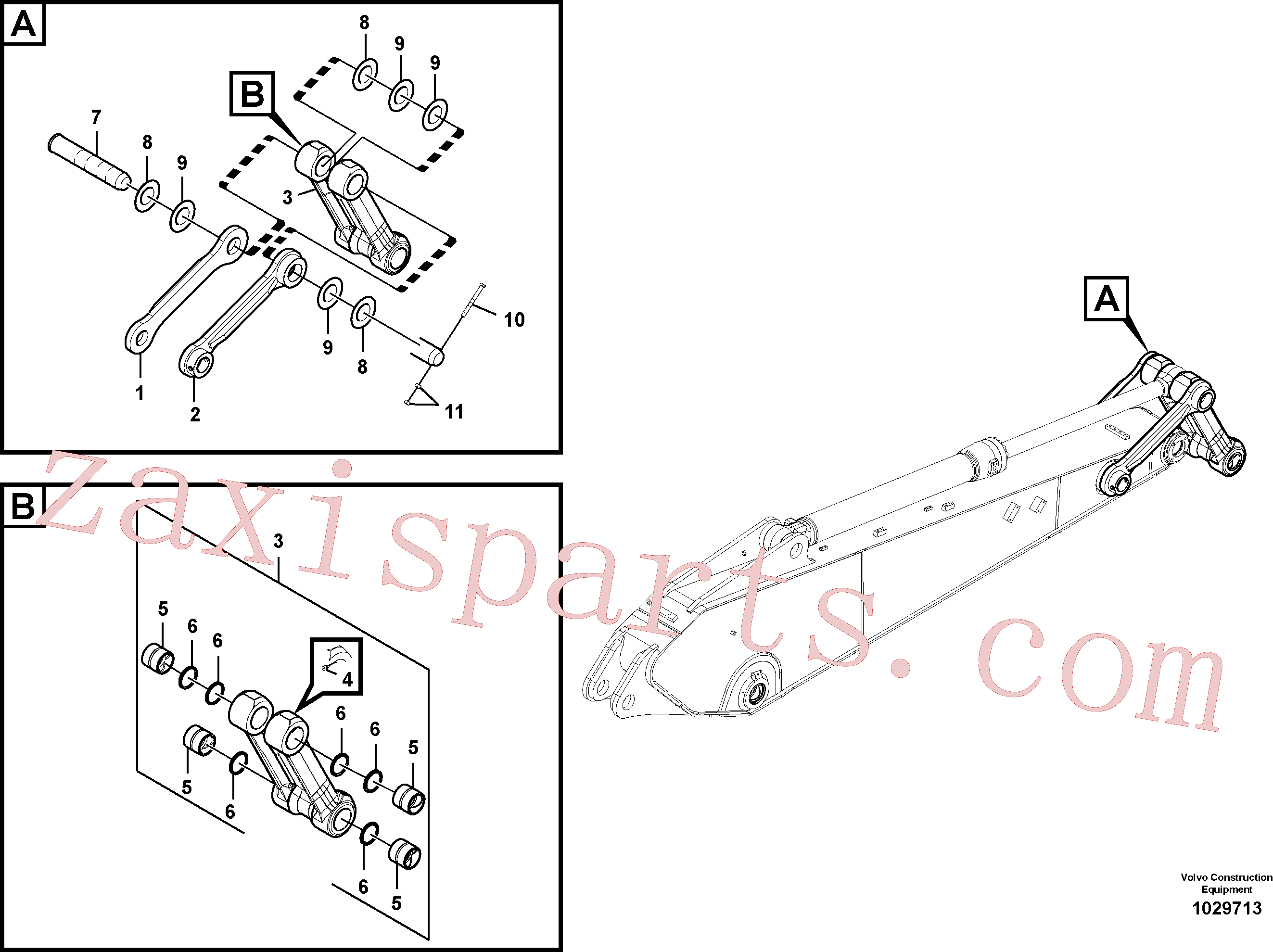 VOE14512678 for Volvo Links to connecting rod(1029713 assembly)