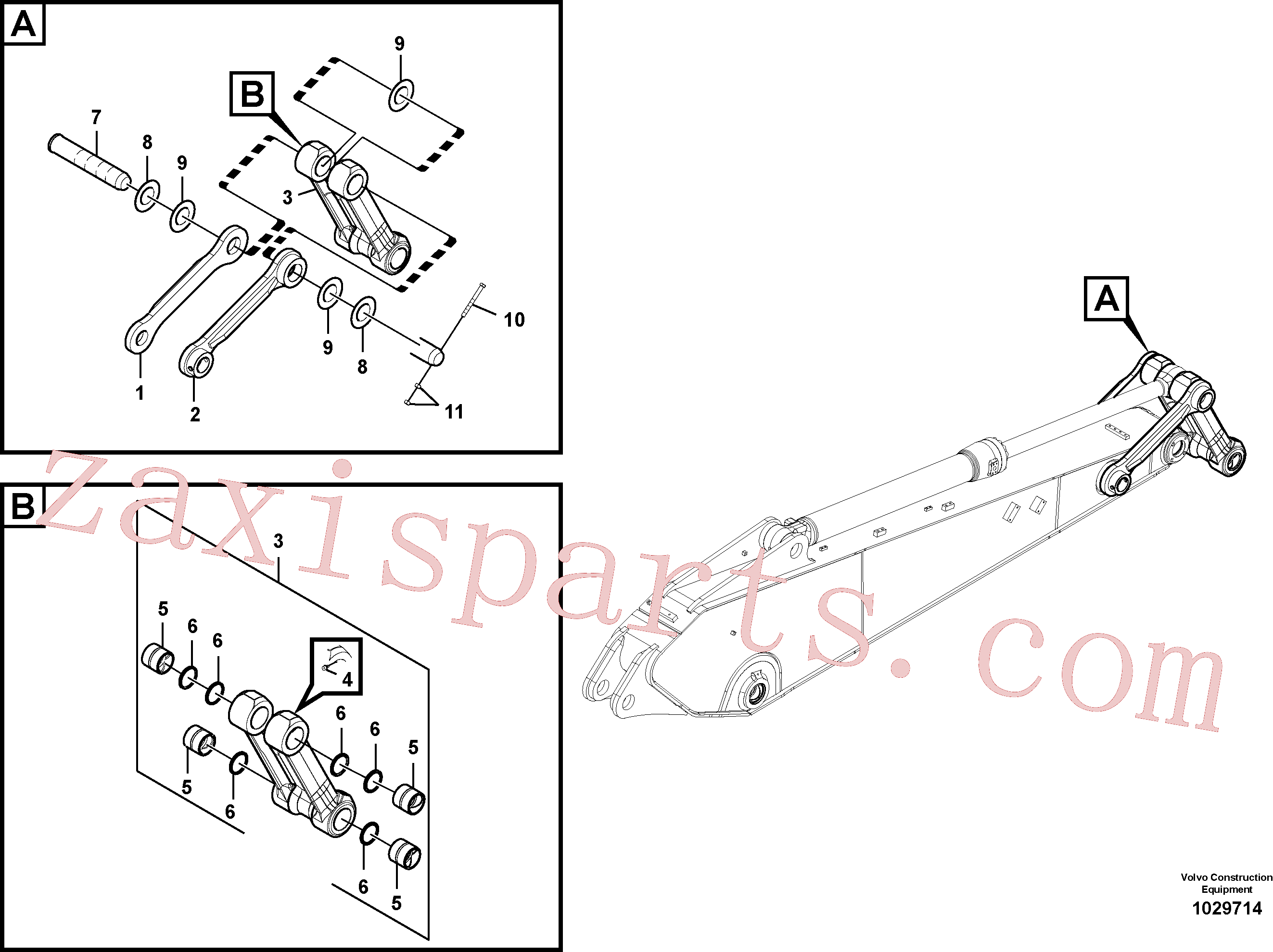 SA1173-00620 for Volvo Links to connecting rod(1029714 assembly)