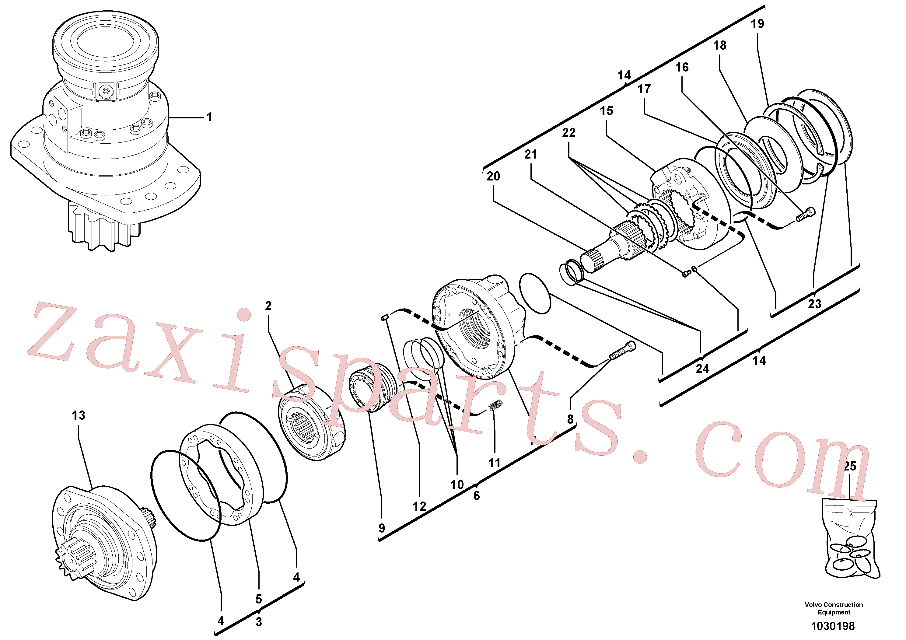 RM13281696 for Volvo Slewing gear motor(1030198 assembly)