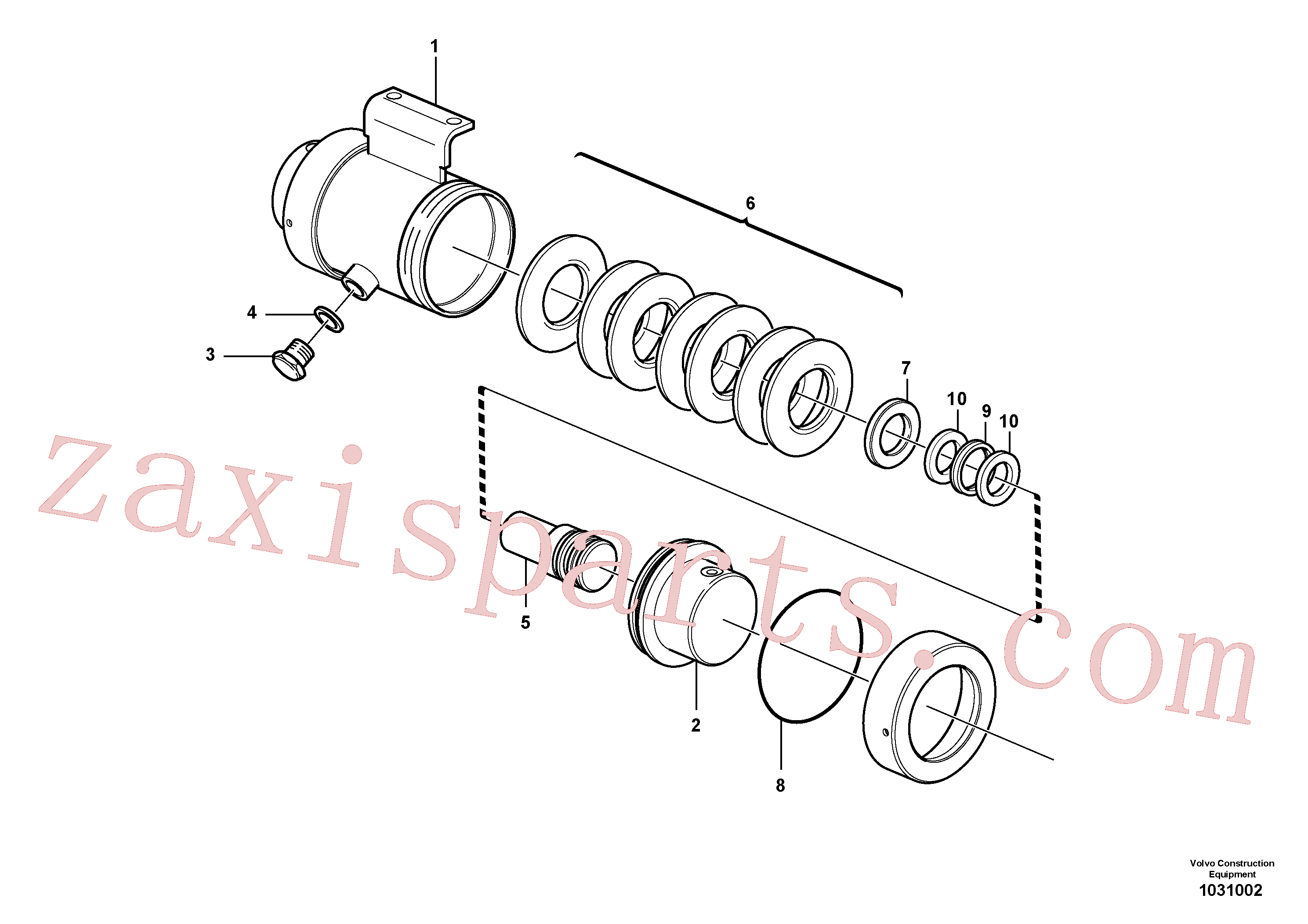 VOE961422 for Volvo Damping cylinder(1031002 assembly)