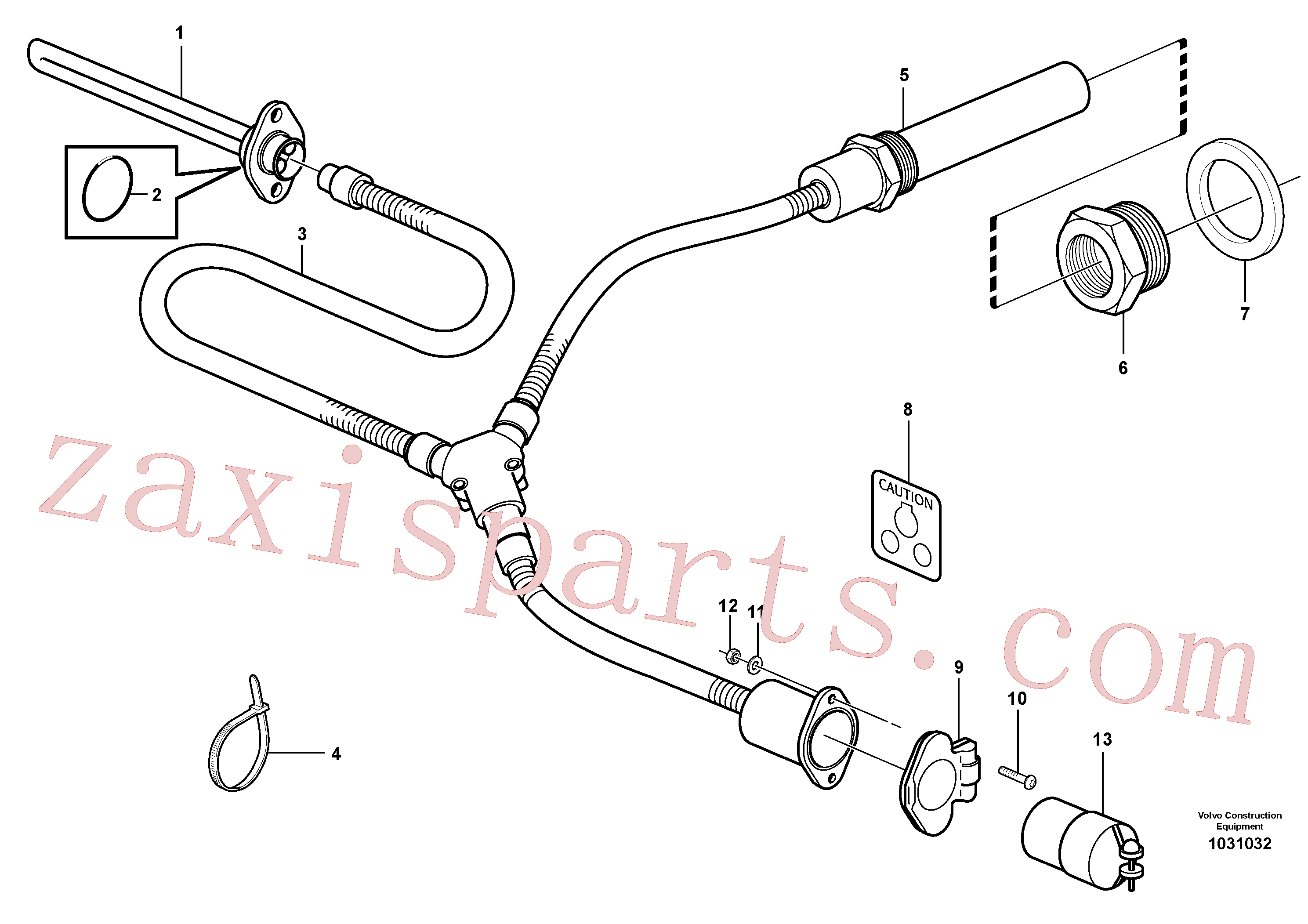 ZM7098754 for Volvo Engine heater(1031032 assembly)