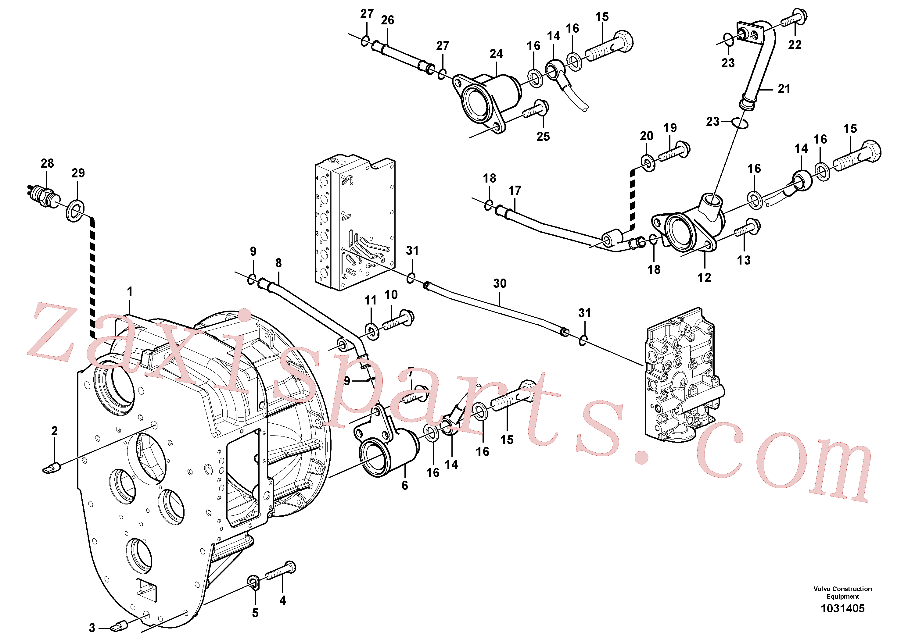 VOE984740 for Volvo Converter housing with fitting parts(1031405 assembly)