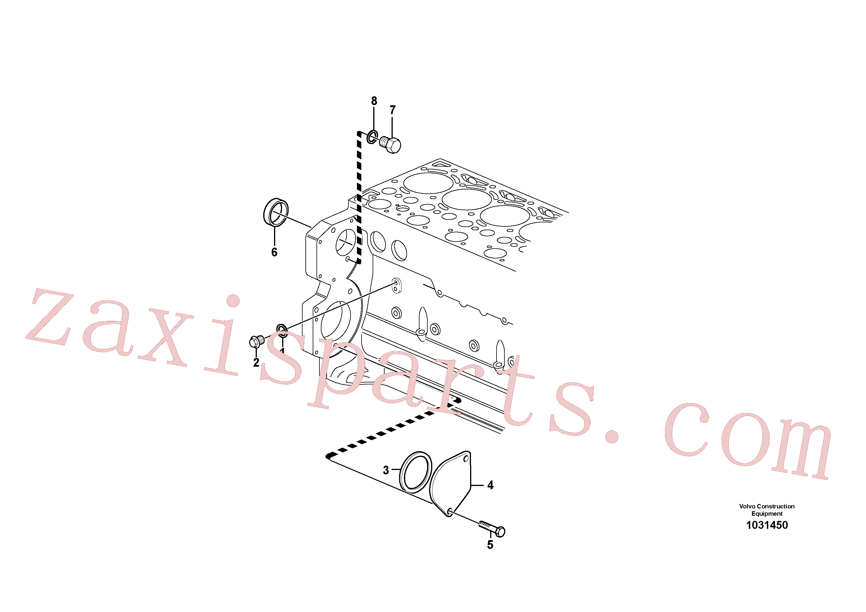 SA9426-20040 for Volvo Pump drive power take-off(1031450 assembly)