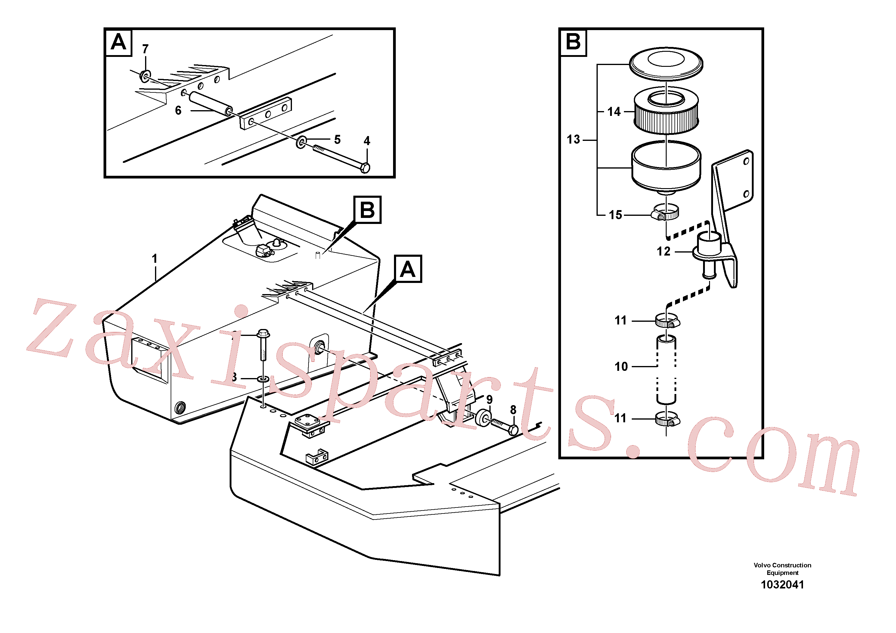VOE14023336 for Volvo Fuel tank with fitting parts(1032041 assembly)