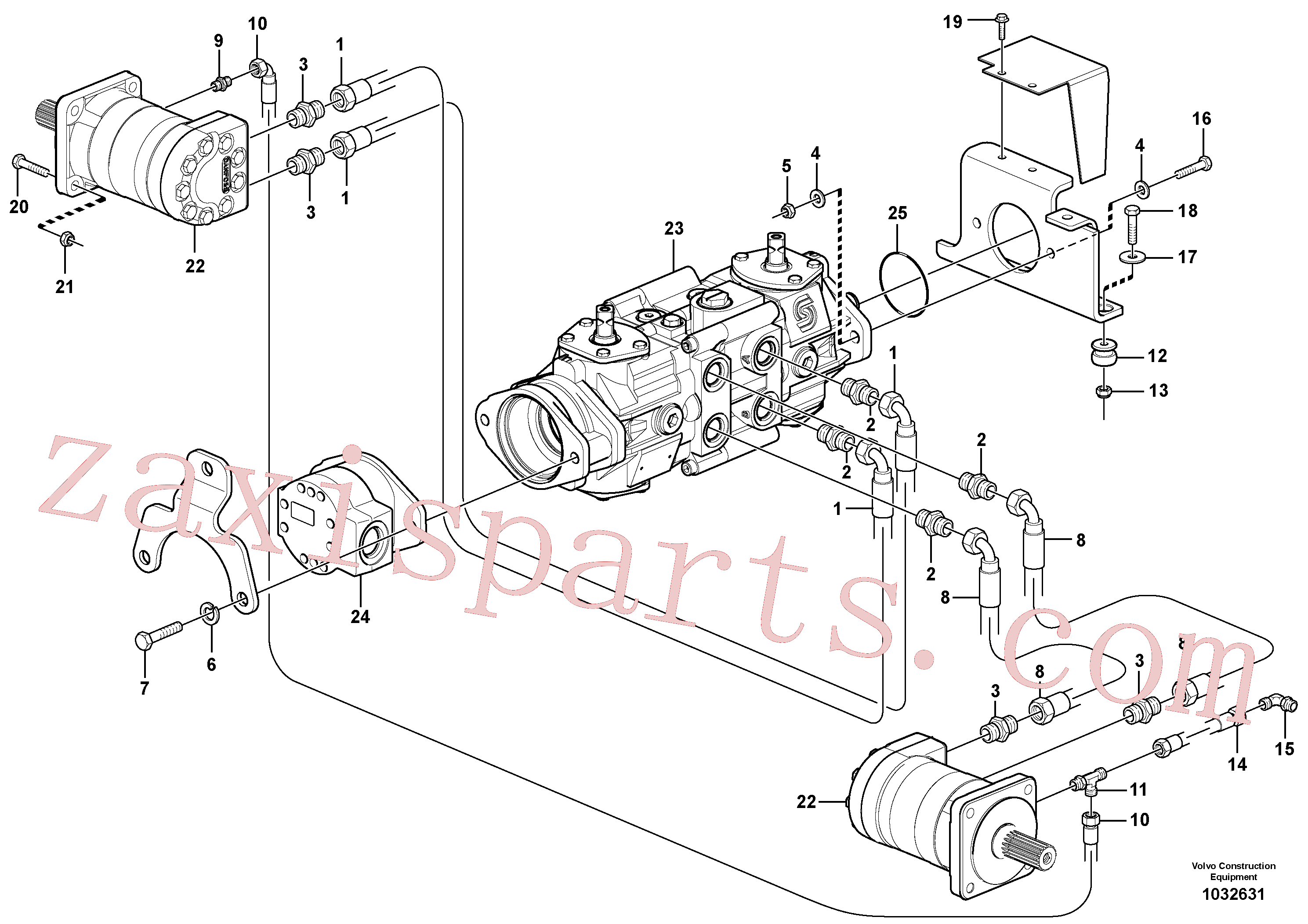 VOE11841982 for Volvo Hydraulic system Transport(1032631 assembly)