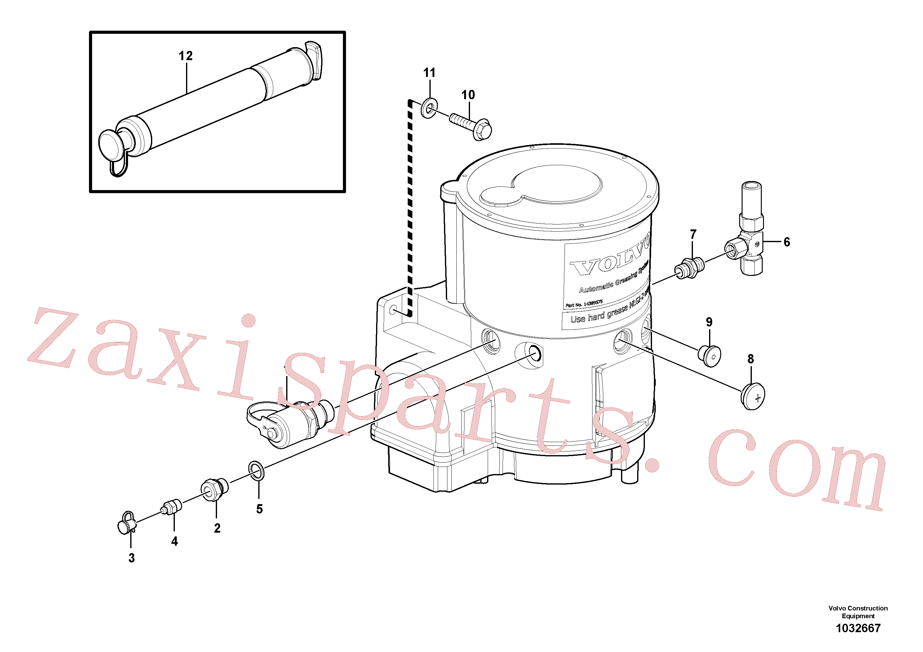 SA9014-10805 for Volvo Pump with fitting parts(1032667 assembly)