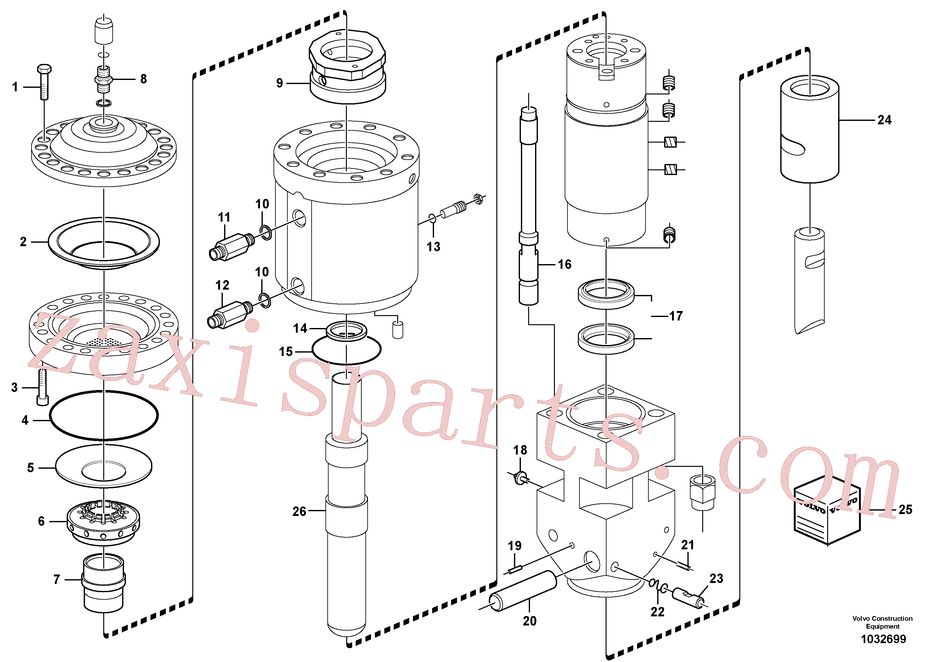 VOE11713134 for Volvo Hammer(1032699 assembly)