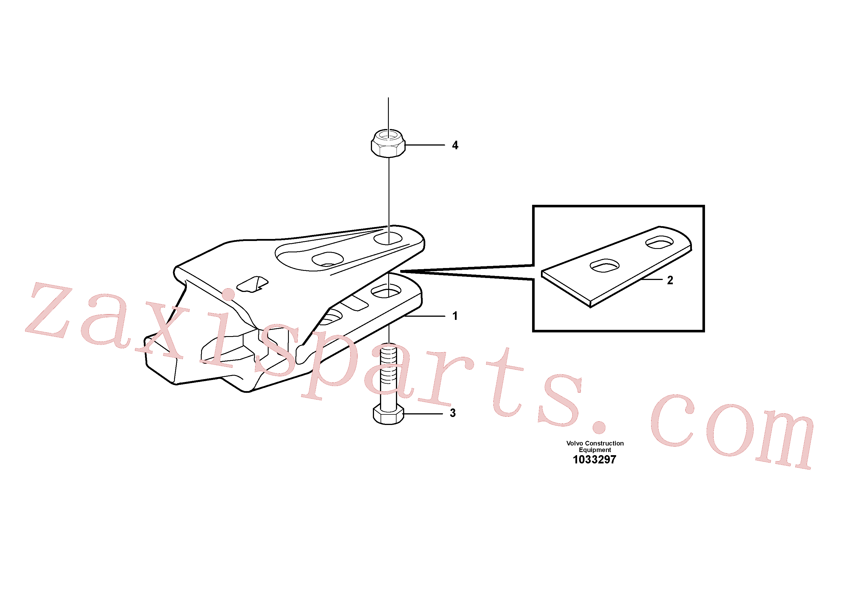 VOE978951 for Volvo Adapter kit(1033297 assembly)