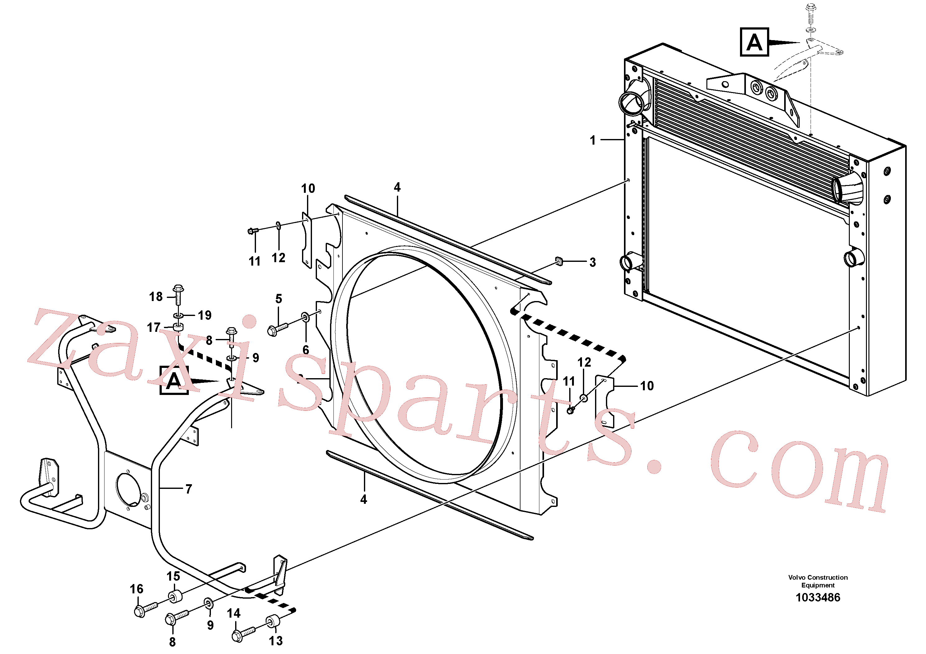 VOE11130278 for Volvo Fan shroud with fitting parts(1033486 assembly)