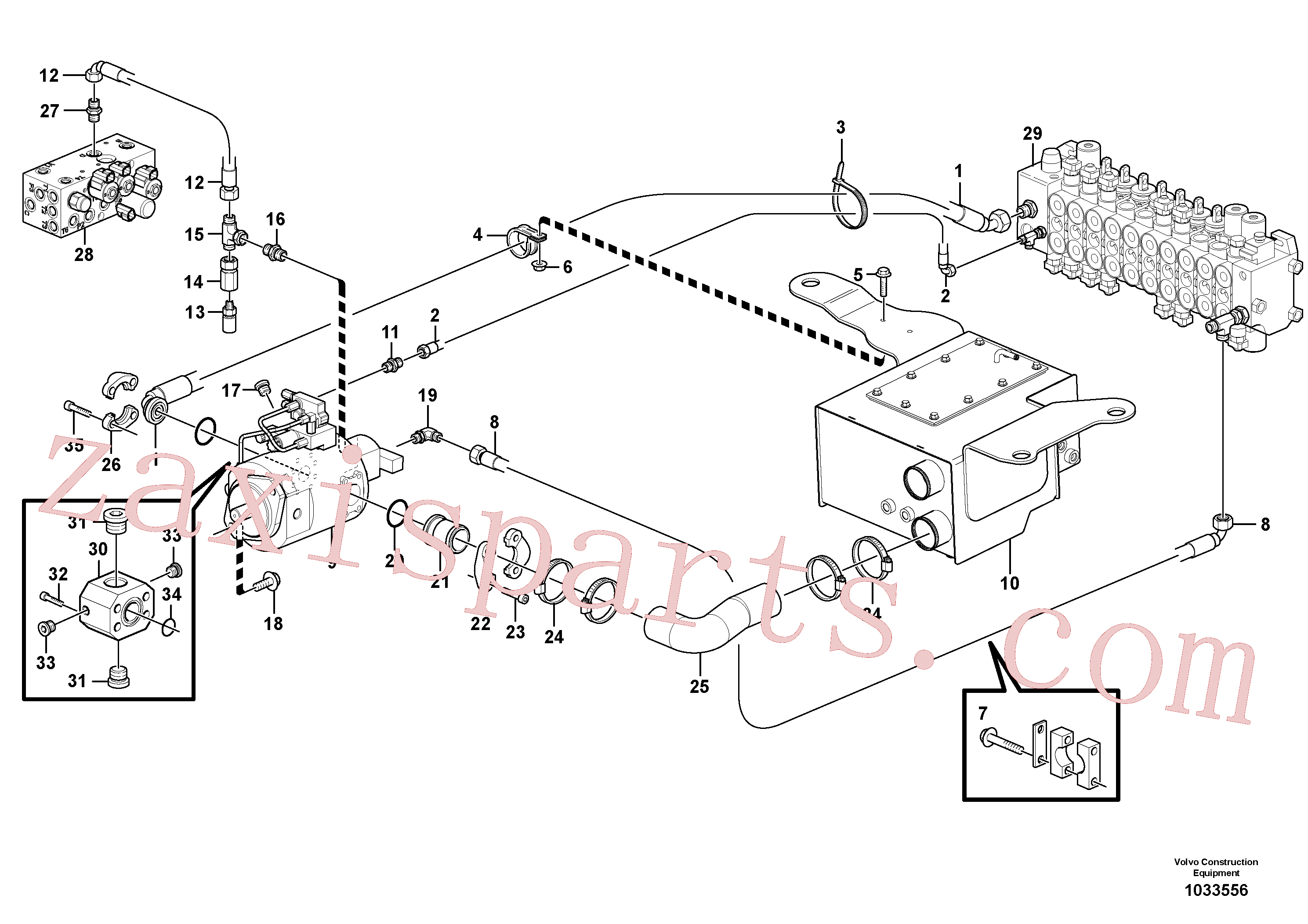 VOE984656 for Volvo Hydraulic system, suction line(1033556 assembly)
