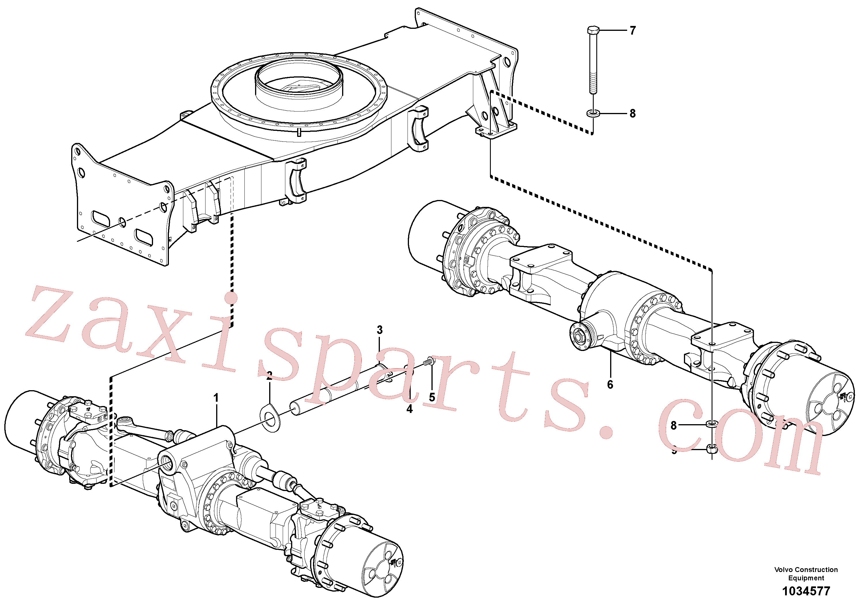 SA1173-00590 for Volvo Planet axles with fitting parts(1034577 assembly)