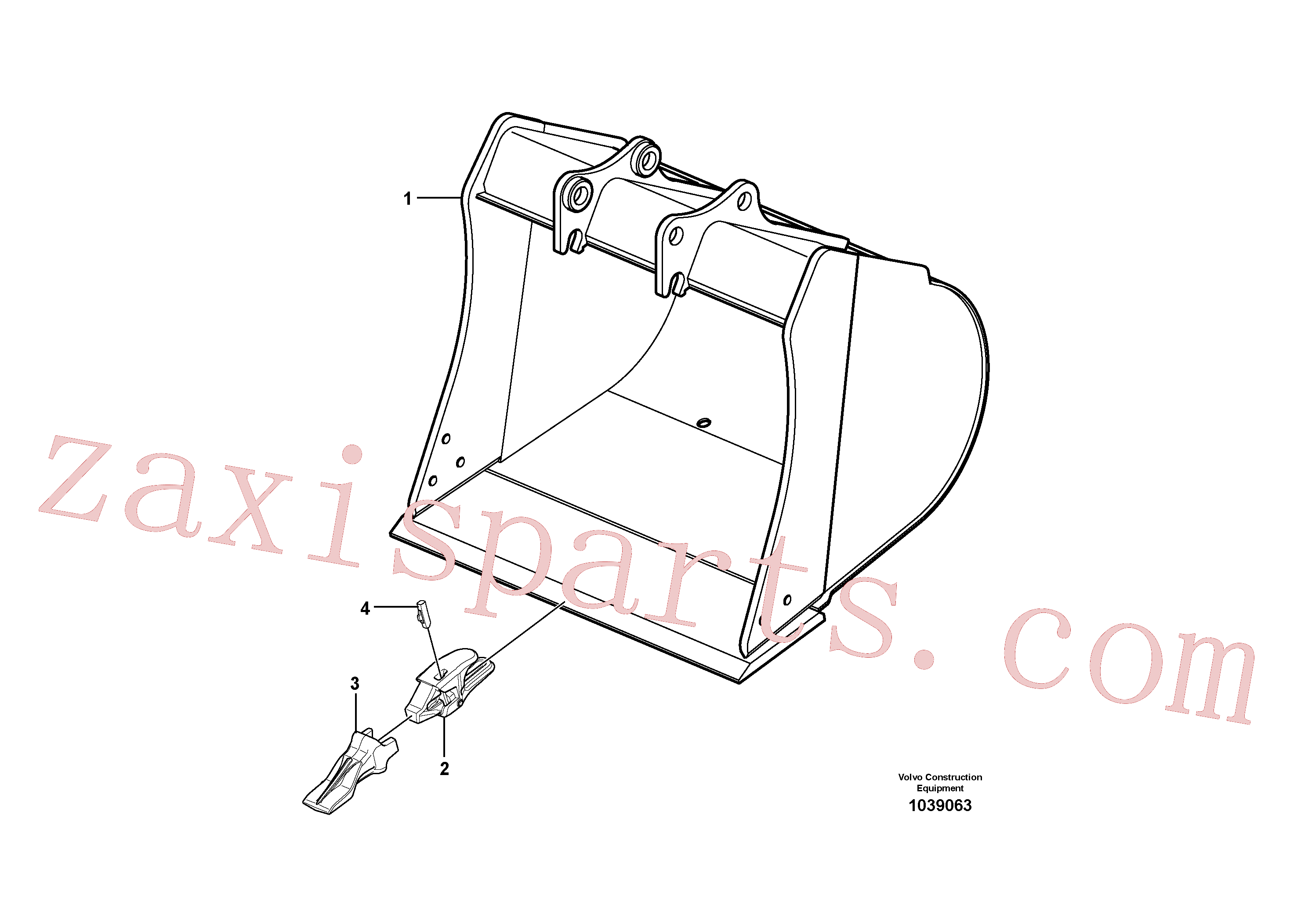 VOE15612433 for Volvo Bucket(1039063 assembly)
