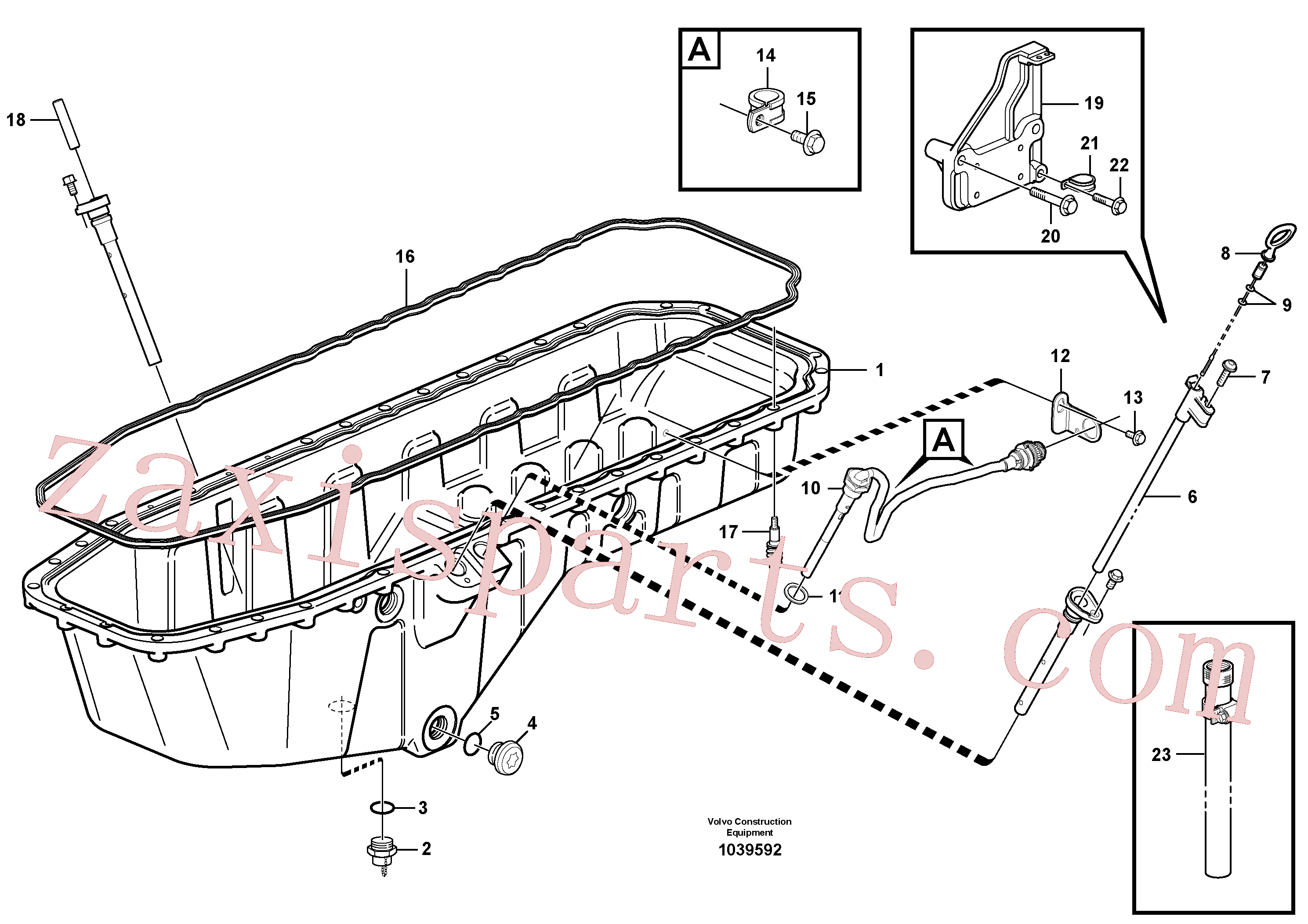 VOE947107 for Volvo Oil sump with mounting parts(1039592 assembly)