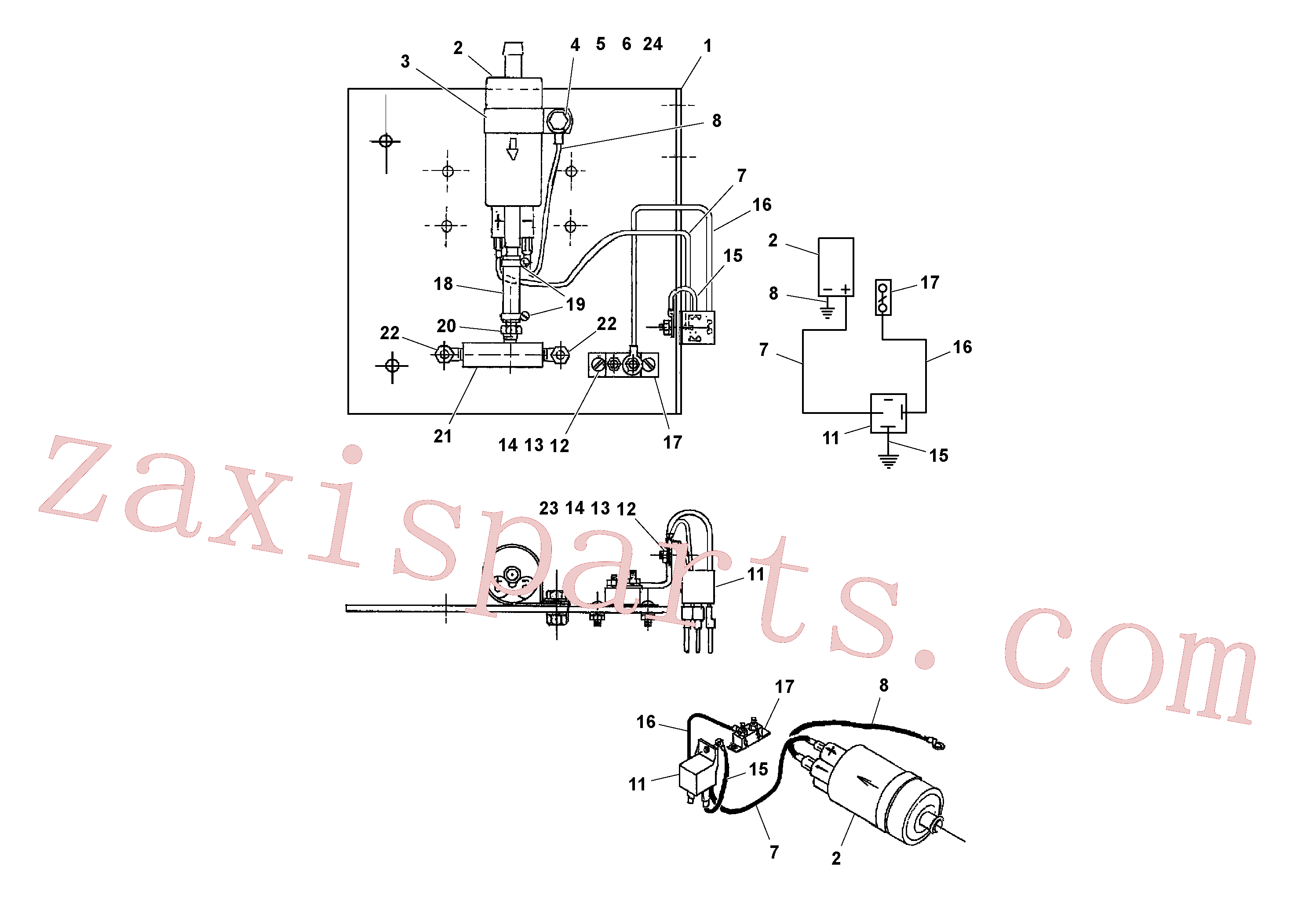 RM95922894 for Volvo Wash-down Pump Assembly(1040054 assembly)