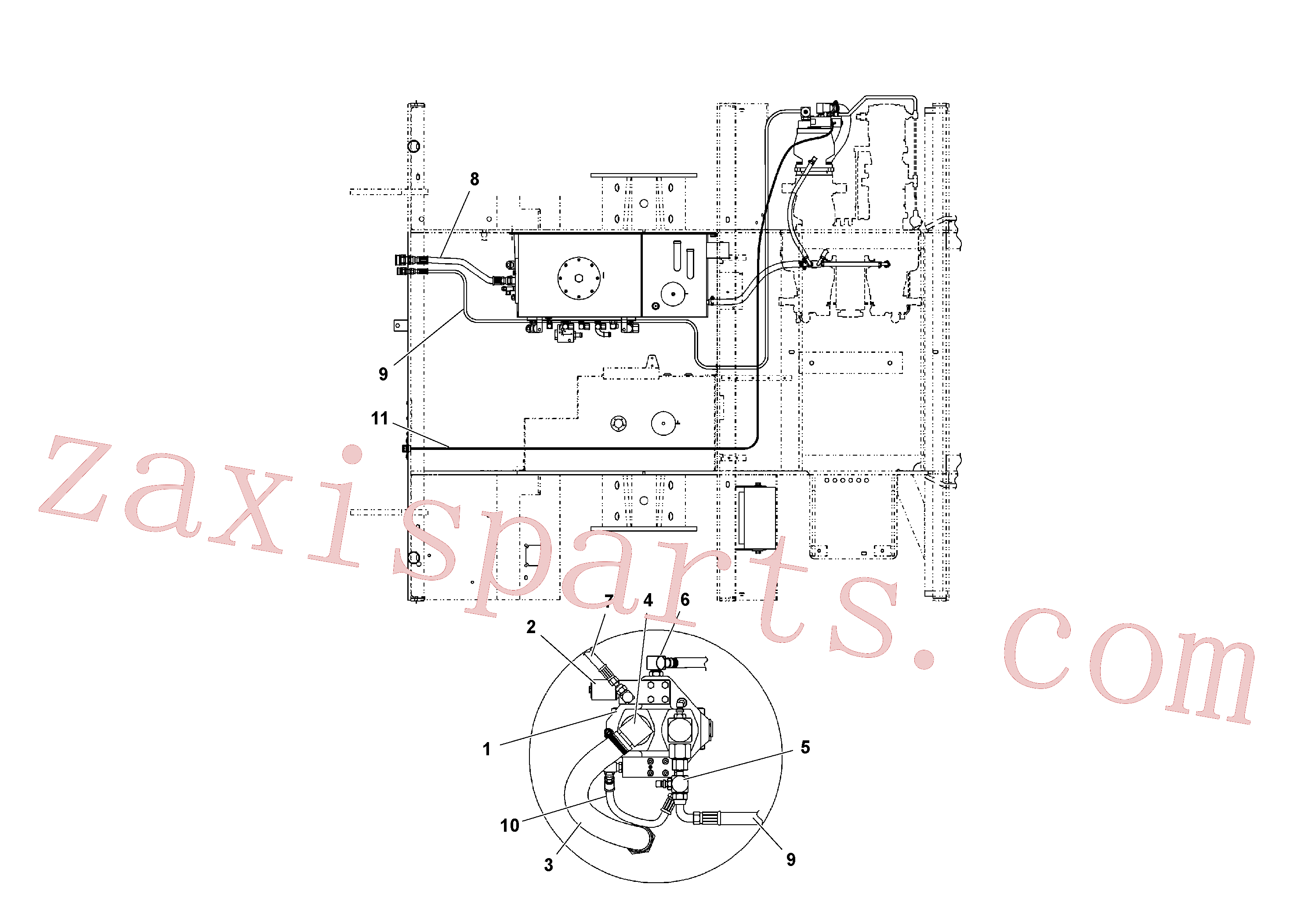 RM20948469 for Volvo Hydraulic system(1040682 assembly)