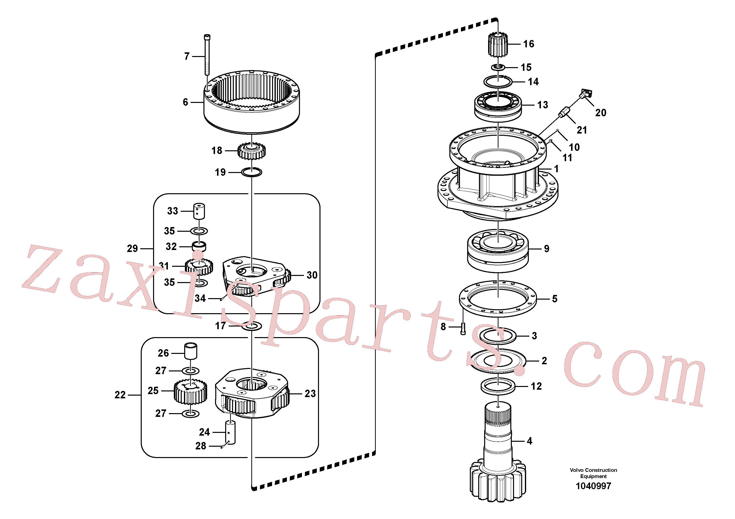 VOE14547277 for Volvo Swing gearbox(1040997 assembly)