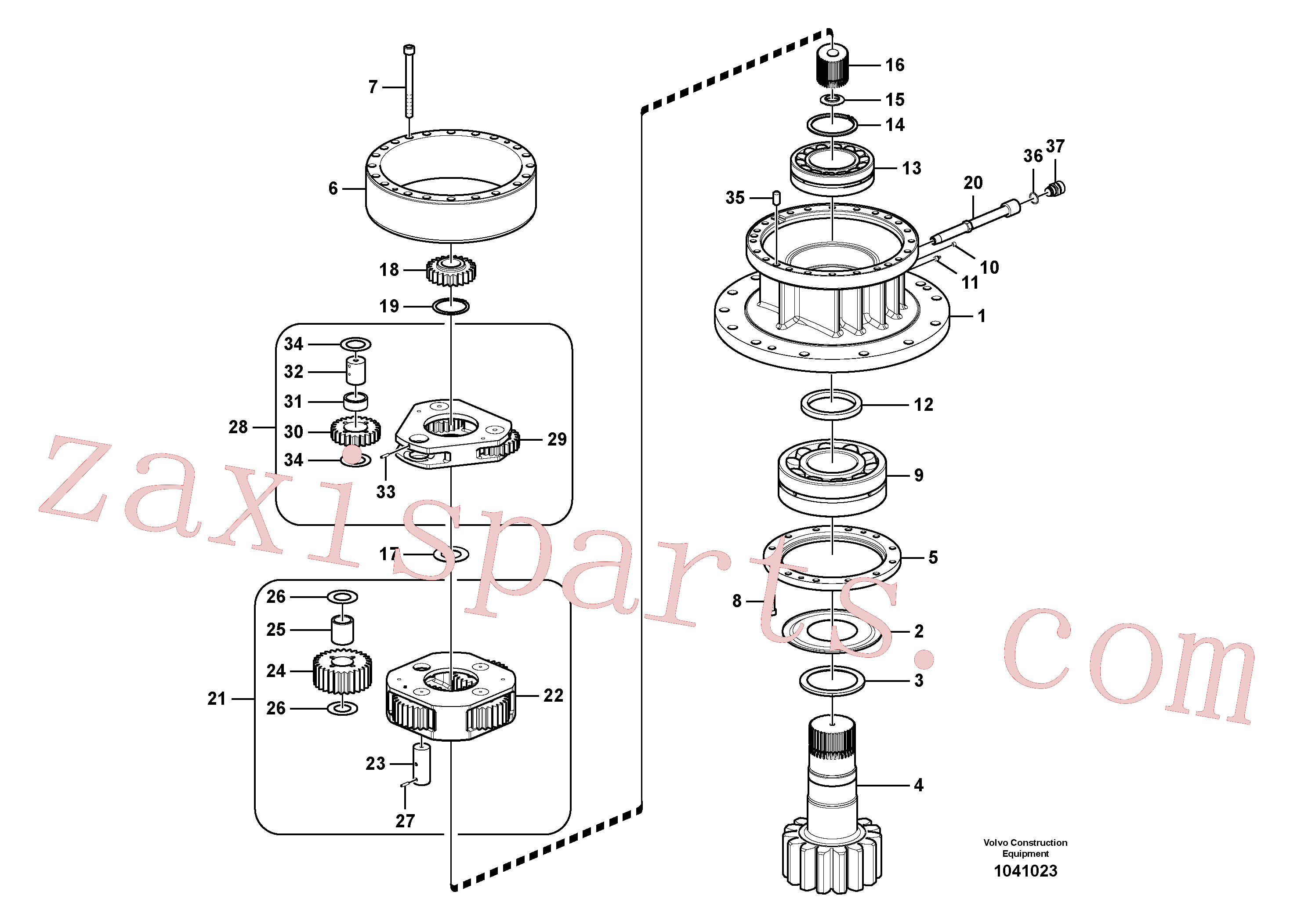 VOE14547277 for Volvo Swing gearbox(1041023 assembly)