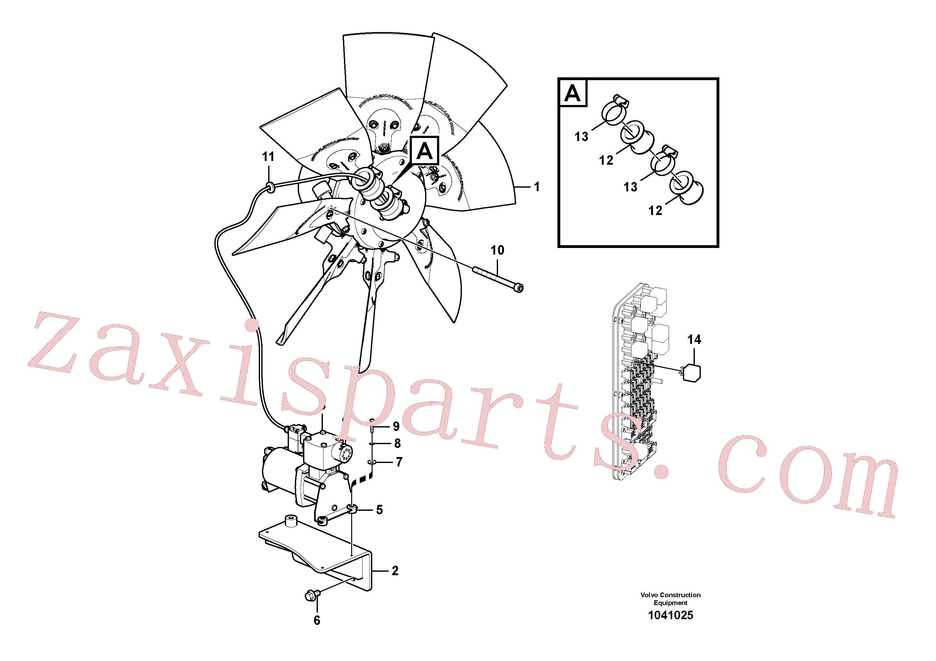 VOE4945078 for Volvo Reversible fan.(1041025 assembly)
