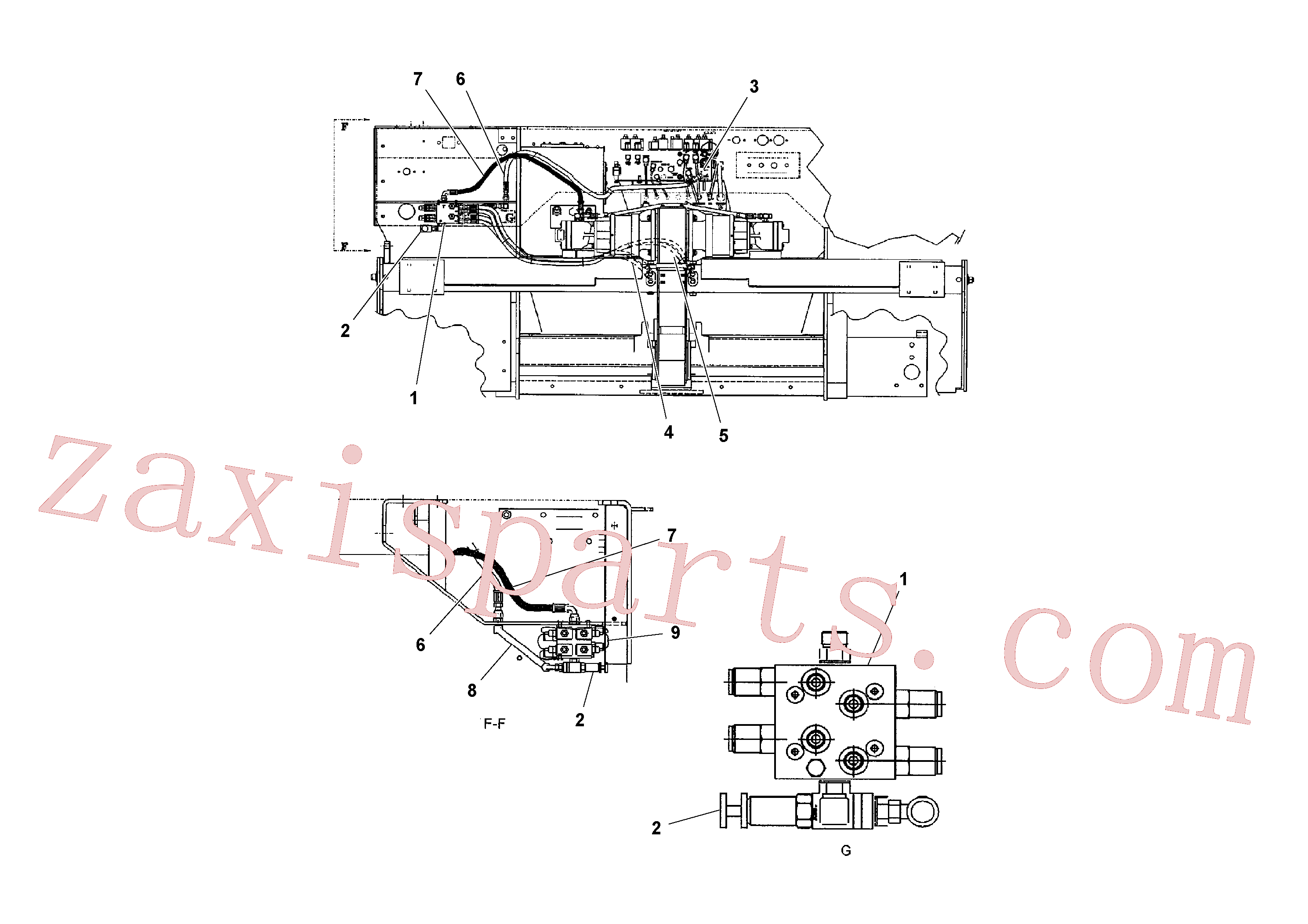 RM20922589 for Volvo Hydraulic Arrangement(1041182 assembly)