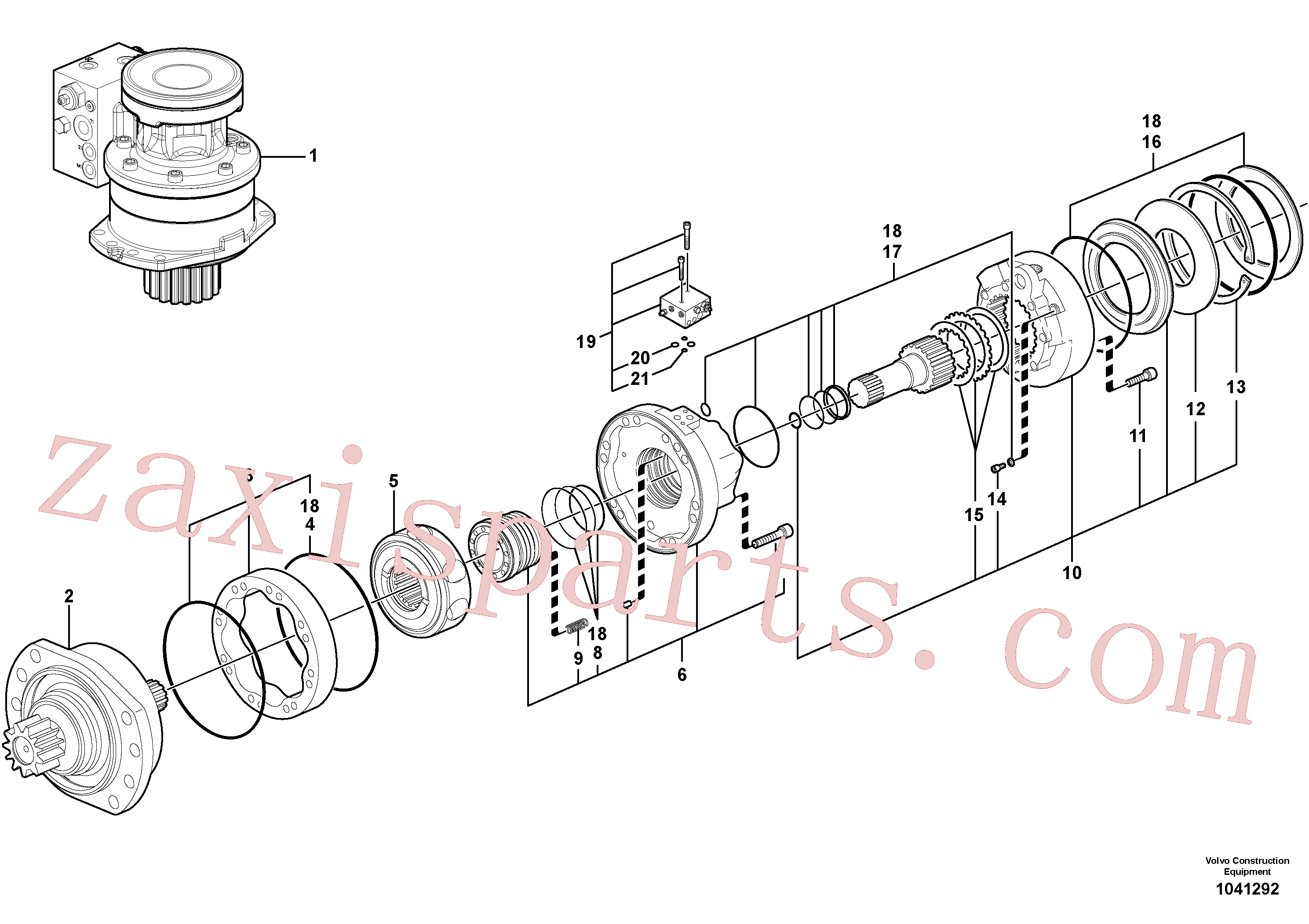 RM13281696 for Volvo Slewing gear motor(1041292 assembly)