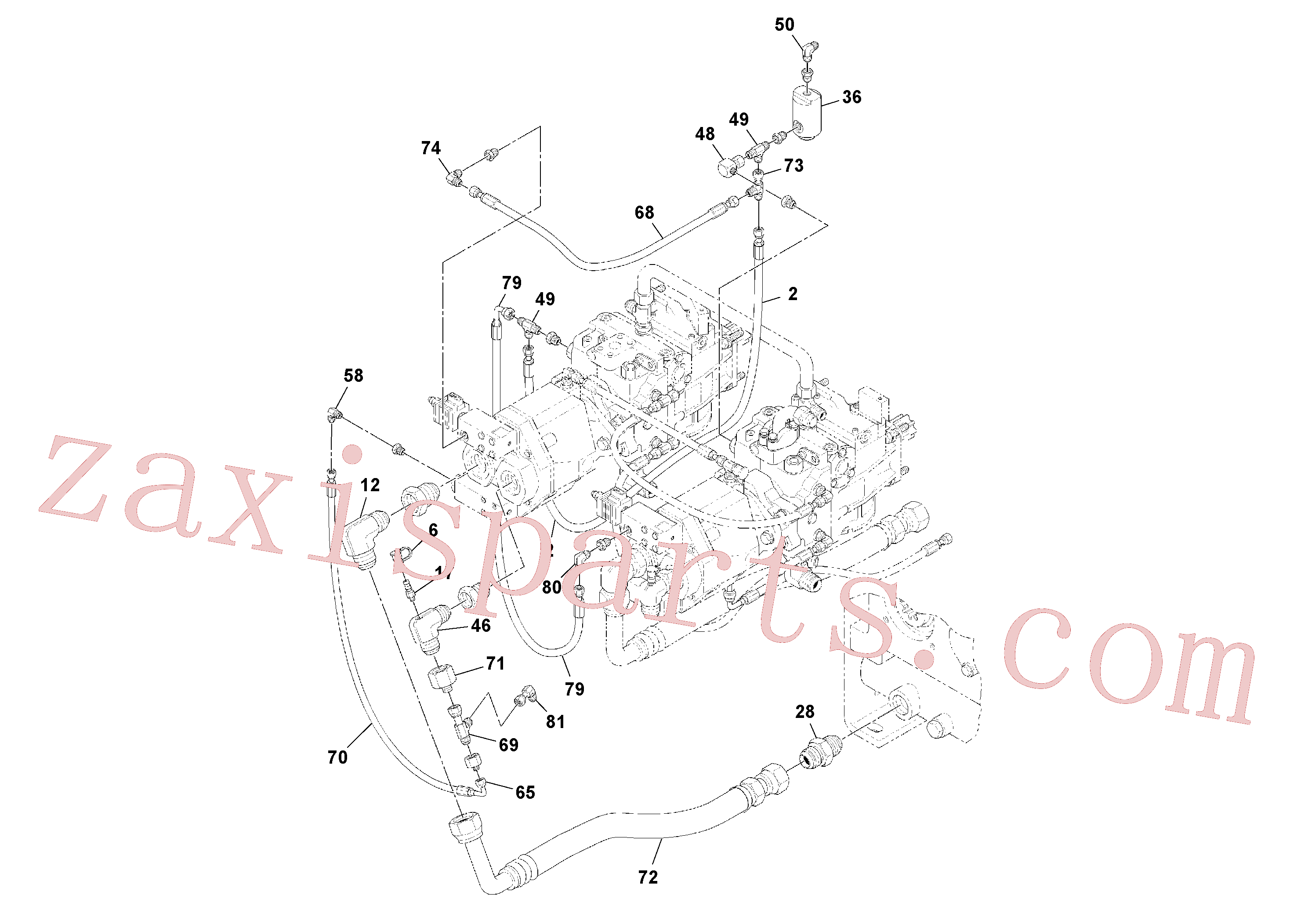 RM20948469 for Volvo Pump Drive Box - With Optional Generator Pump(1041377 assembly)
