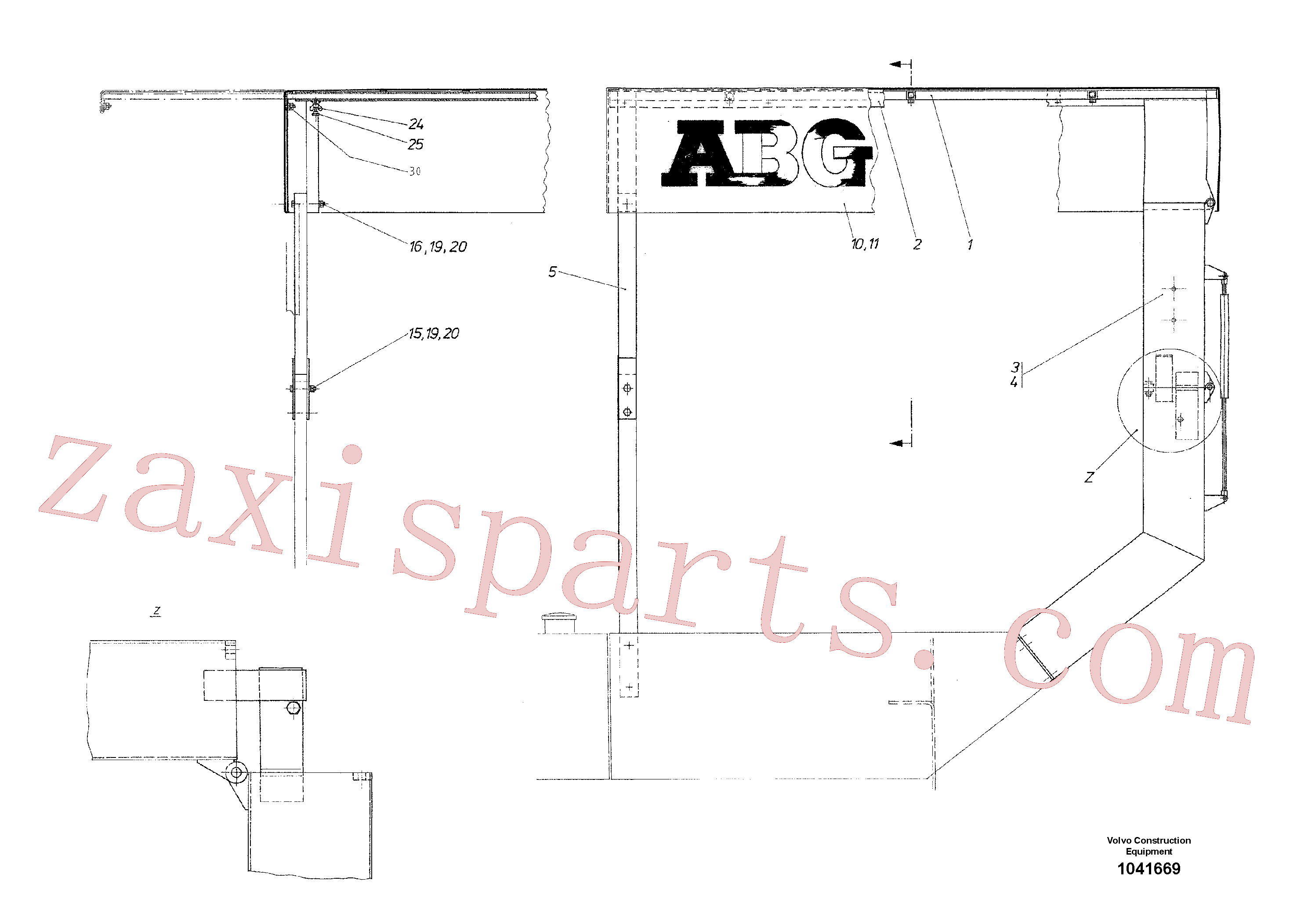 RM96706130 for Volvo All-weather Roof(1041669 assembly)