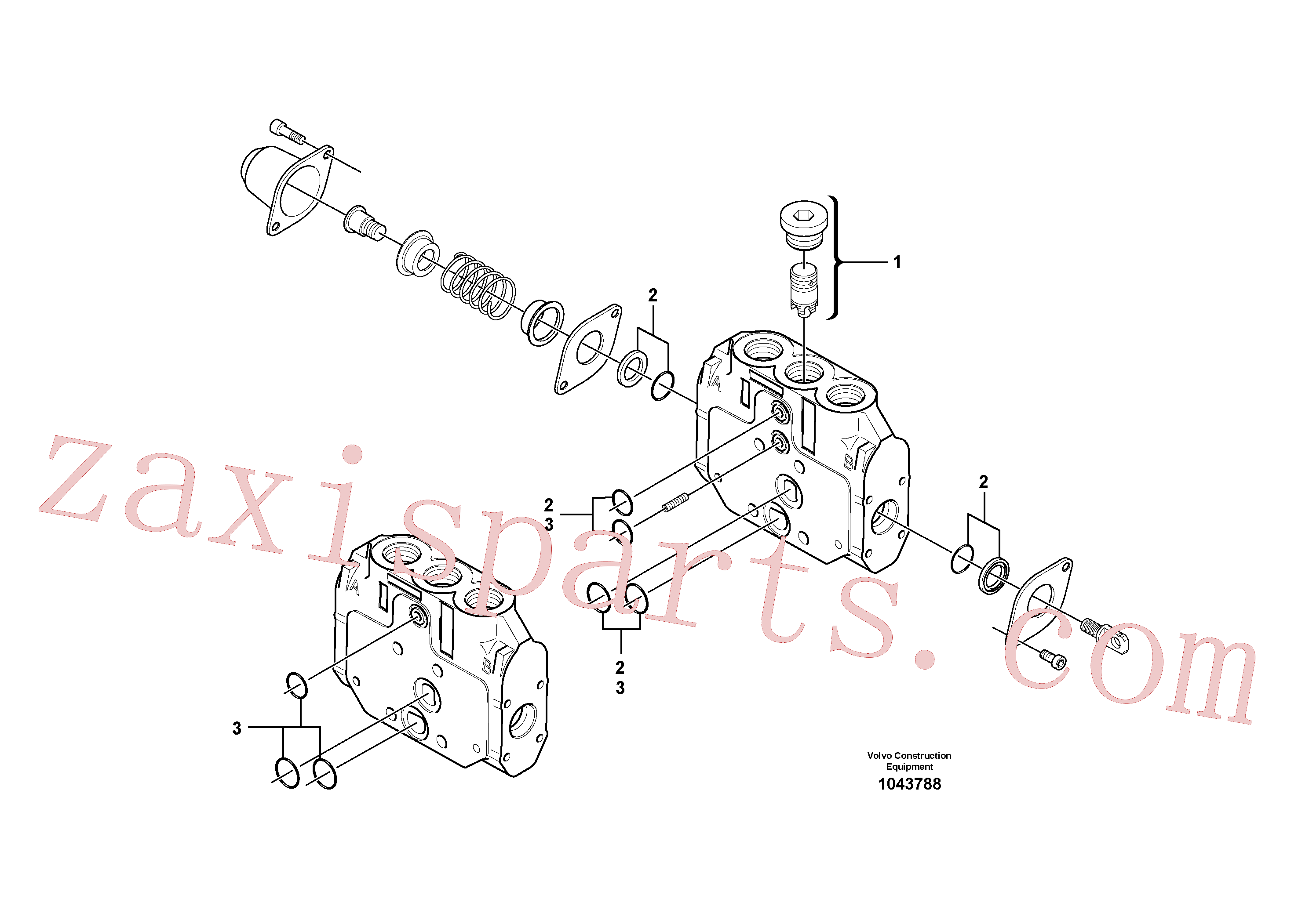 VOE15093472 for Volvo Valve section(1043788 assembly)