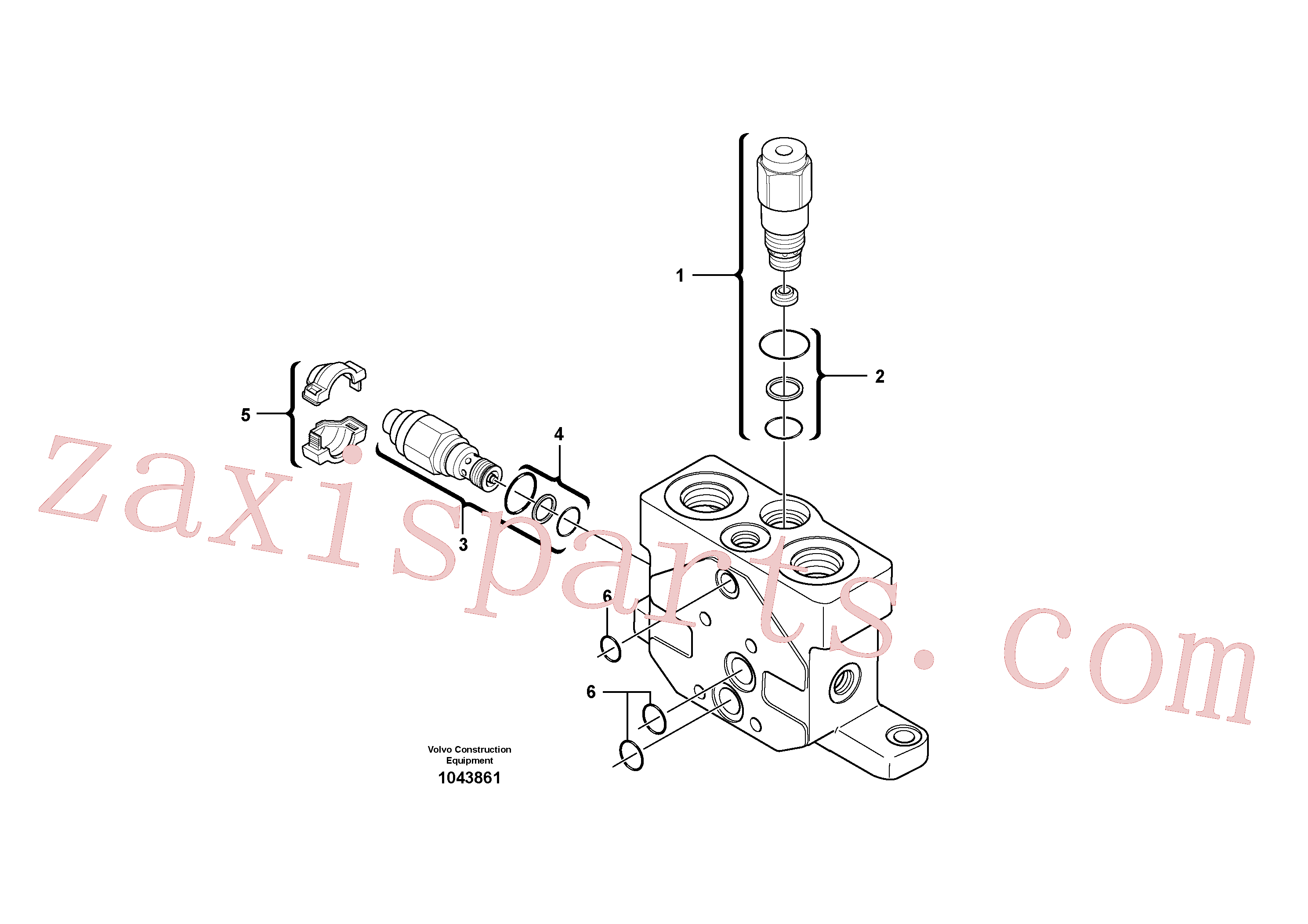 PJ7417729 for Volvo Valve section(1043861 assembly)