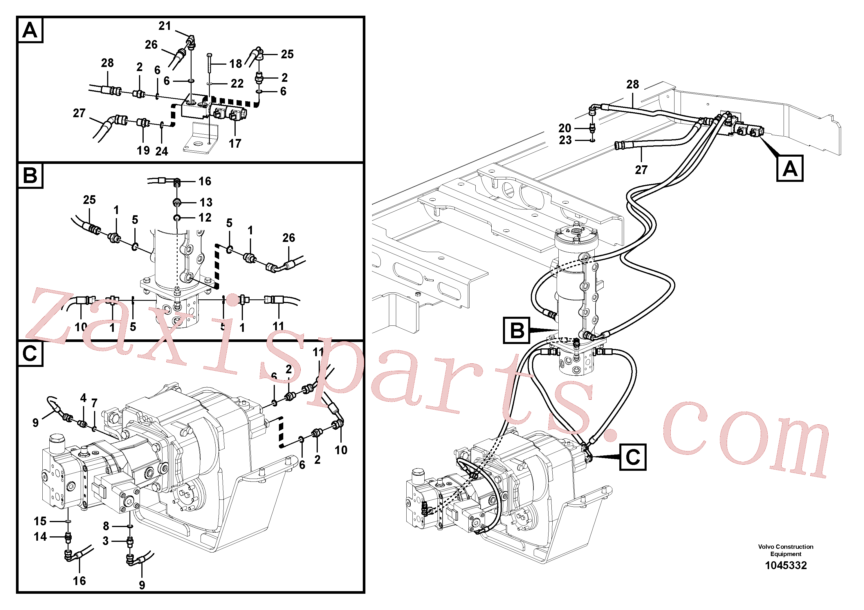 SA9412-11150 for Volvo Power train control system (gear shift-linkage type)(1045332 assembly)